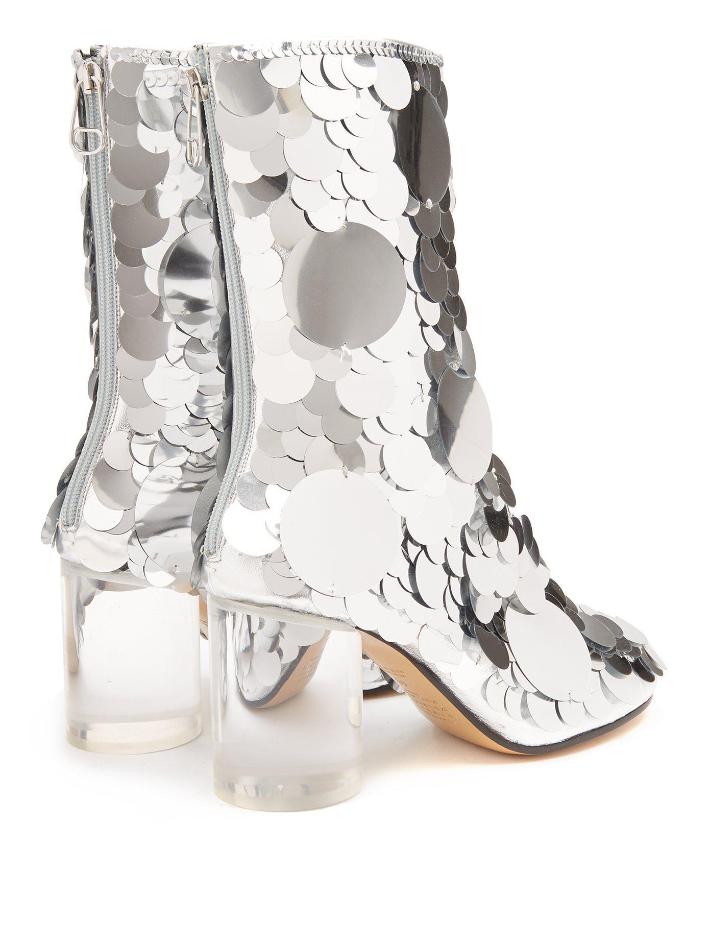 MM6 MAISON MARGIELA Sequin embellished ankle boots