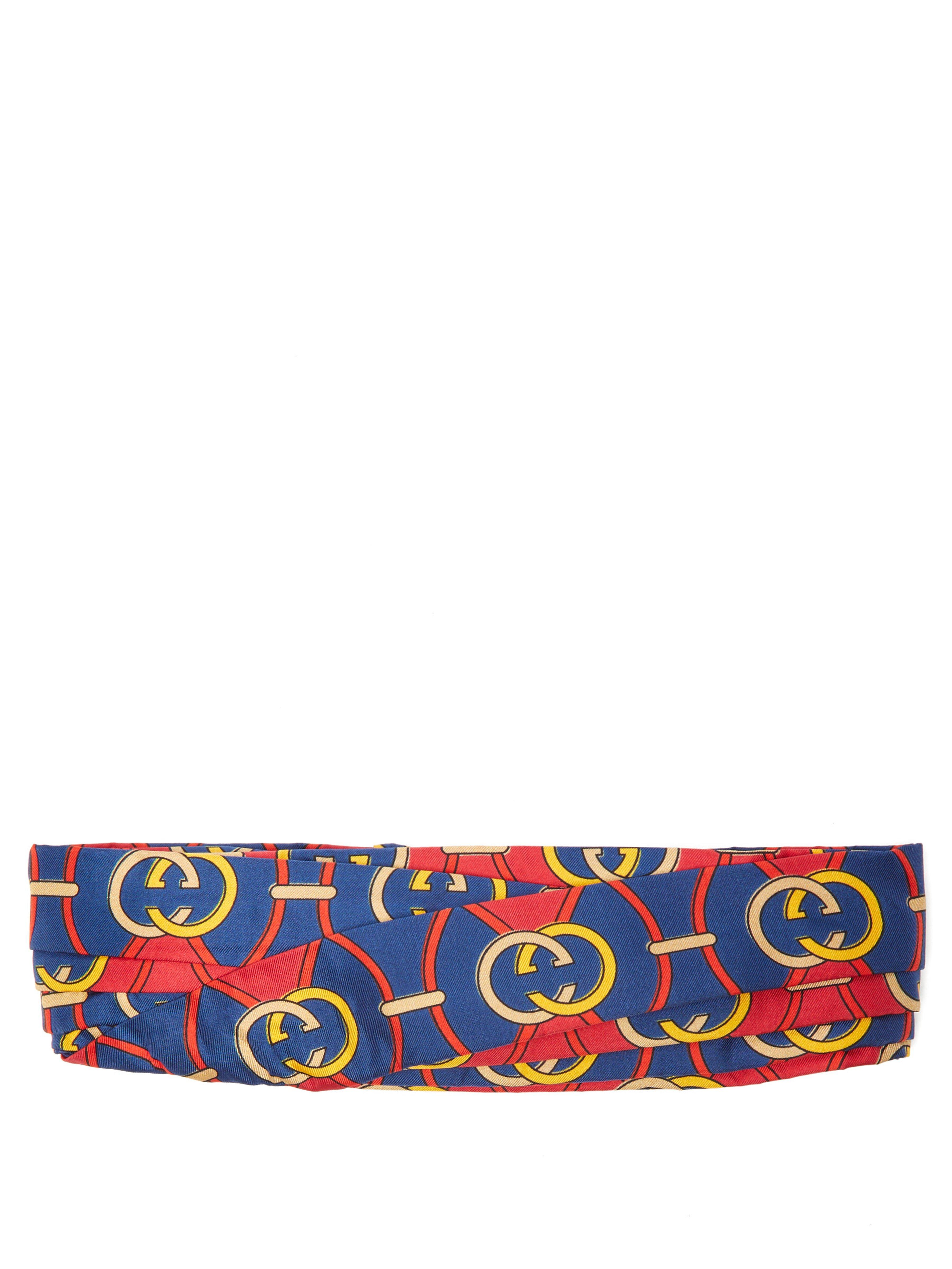 2a3809b500d Gucci Scarf With Interlocking G Stirrups Print in Red - Save 81% - Lyst