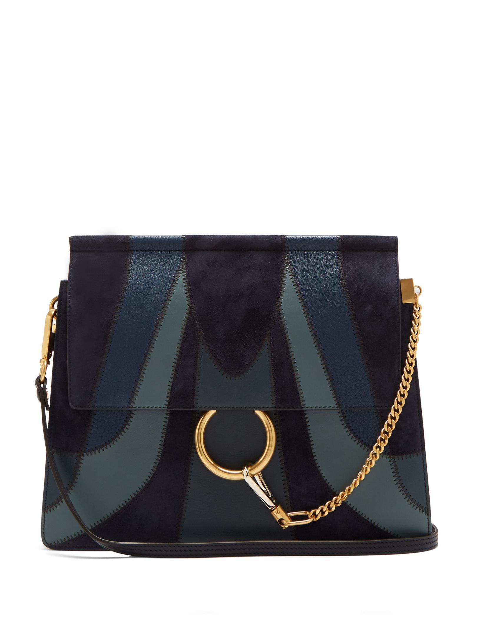Lyst Chlo 233 Faye Medium Patchwork Leather Shoulder Bag In