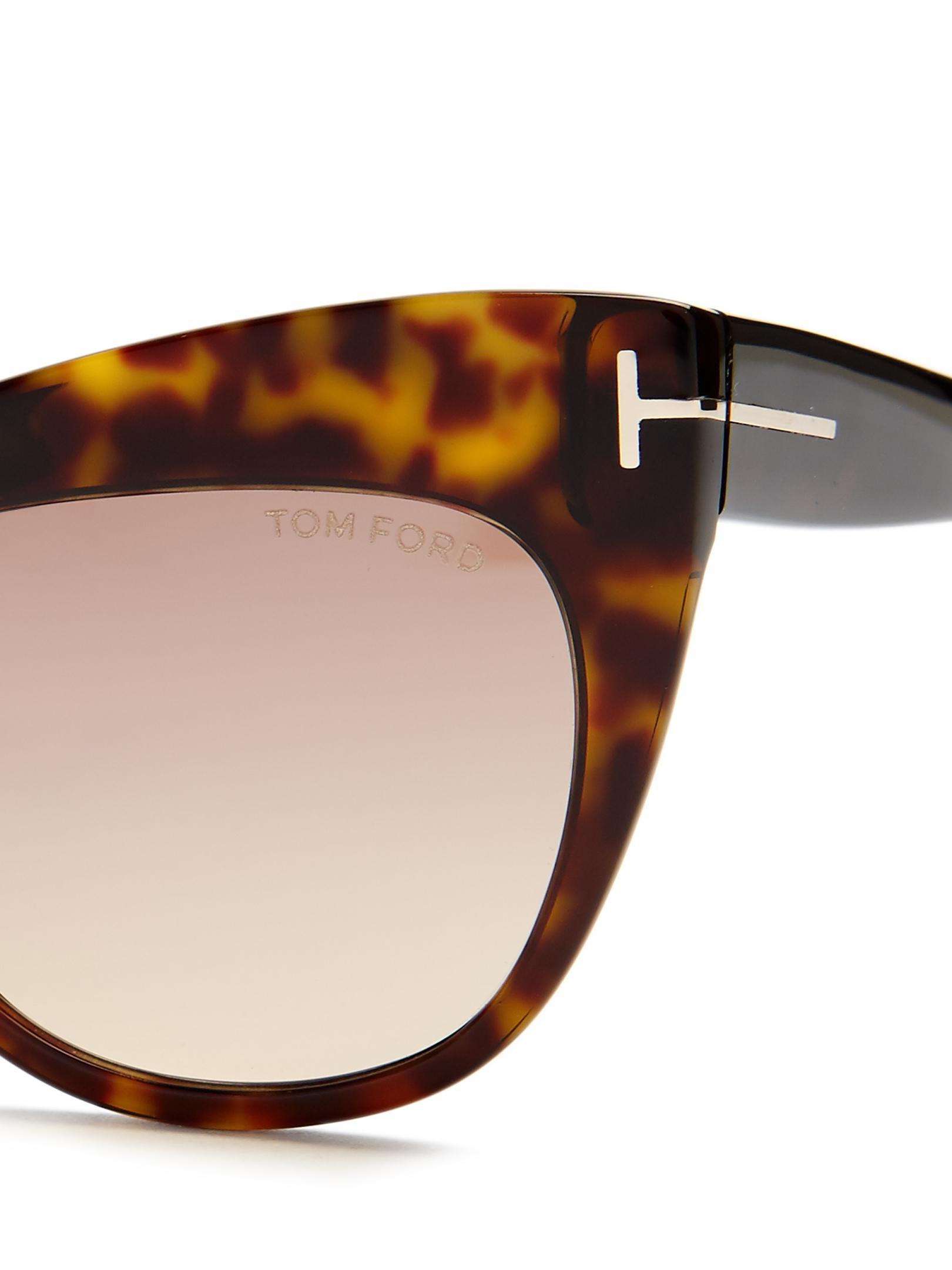Lyst - Tom Ford Nika Cat-eye Sunglasses in Brown