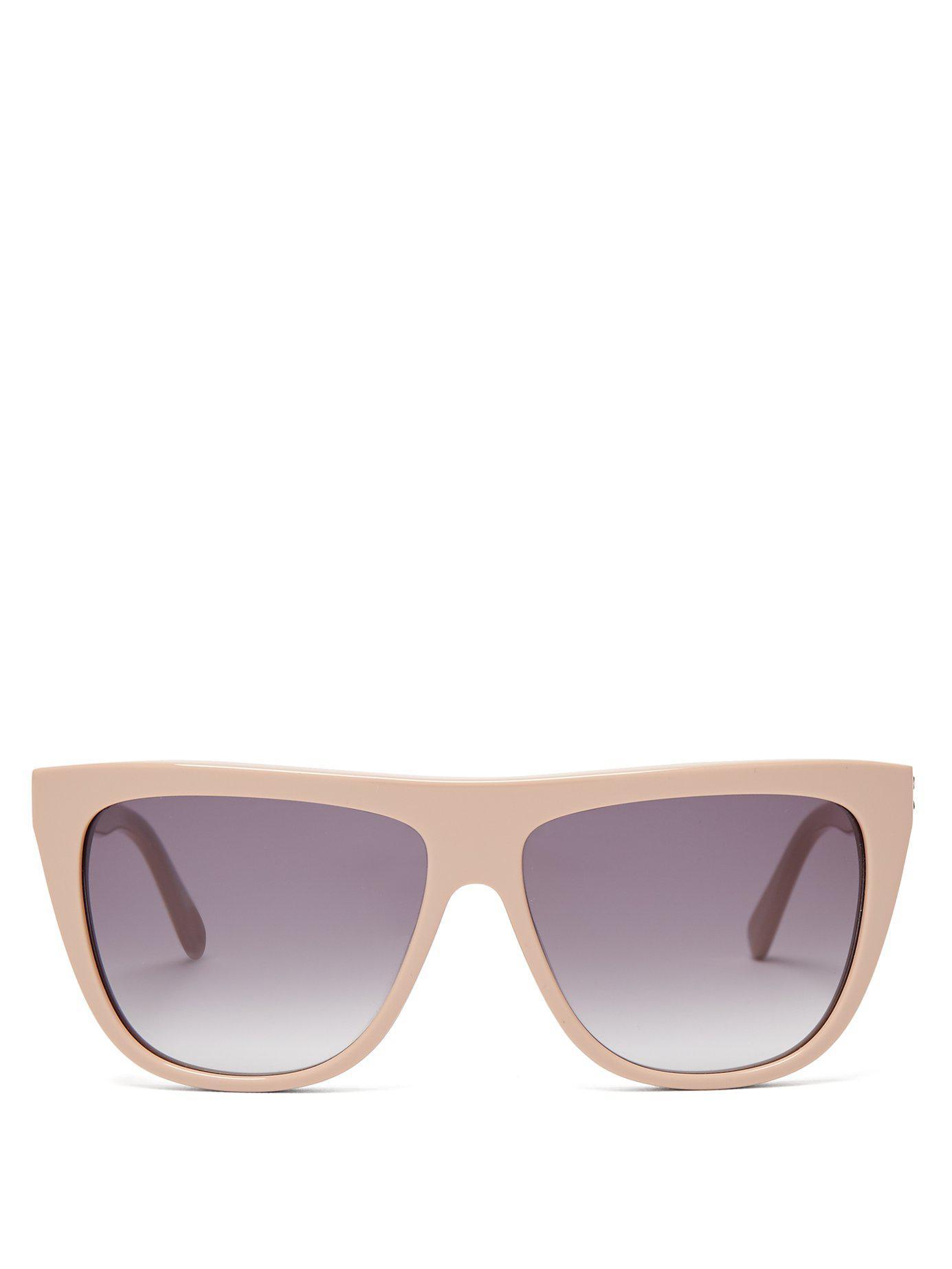 5683169ee8 Lyst - Stella McCartney Chain D Frame Sunglasses