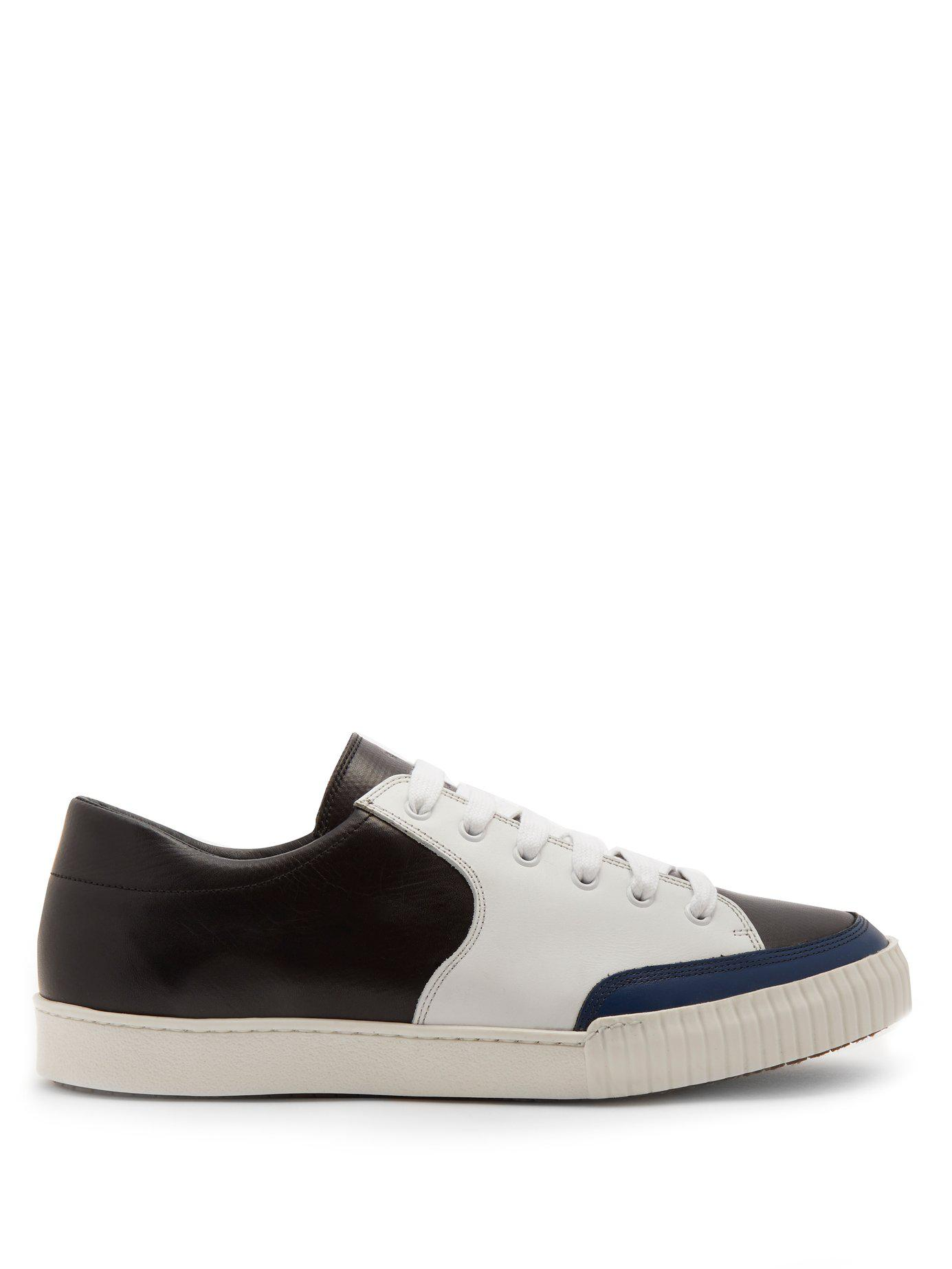 1d01e2bdf8 Lyst - Marni Bi-colour Low-top Leather Trainers for Men