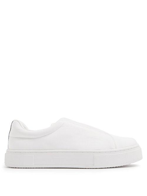 Eytys. Women's White Doja Slip-on Canvas Trainers