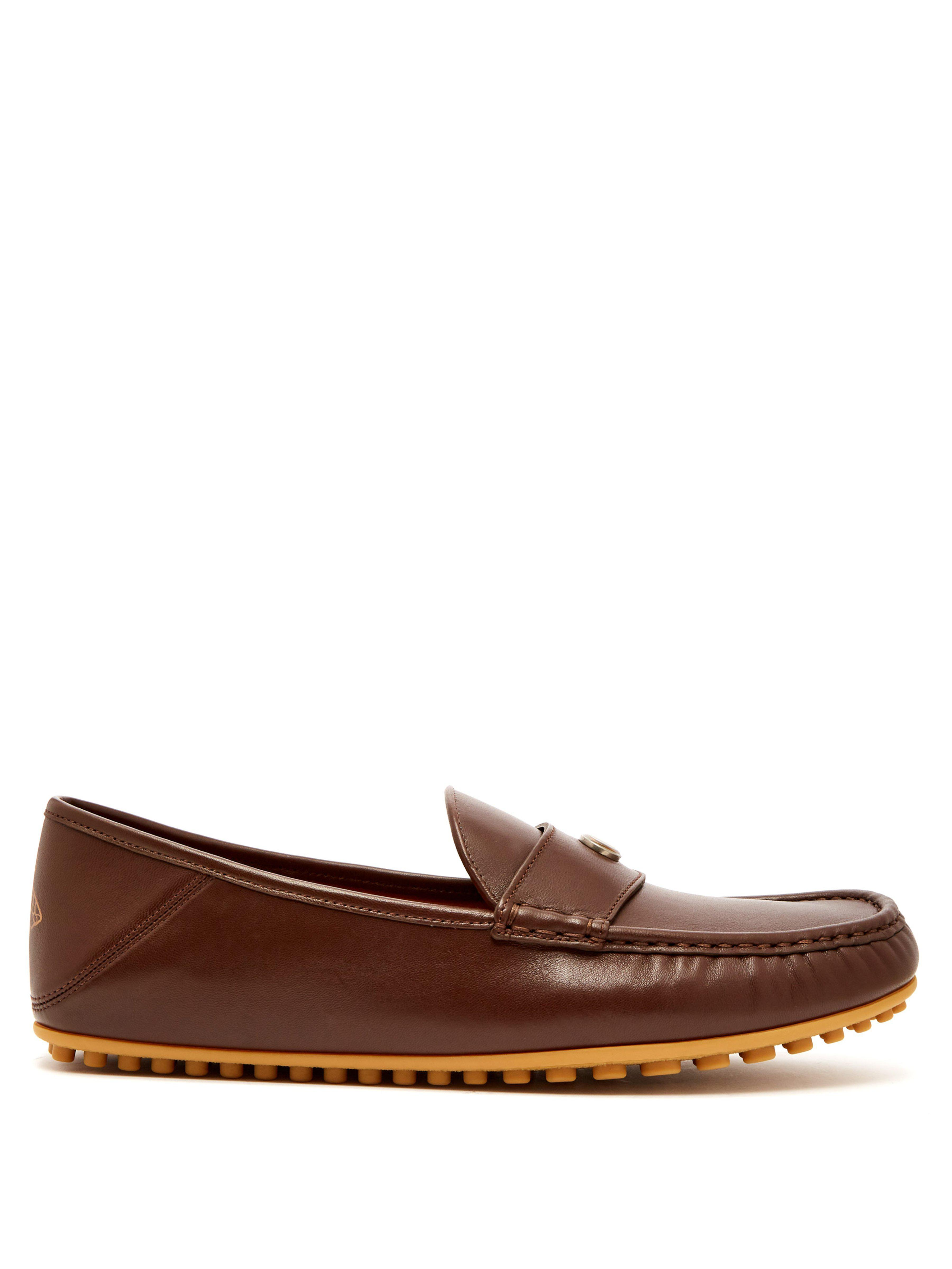 521ca1b52d68 Gucci Kanye Leather Loafers in Brown for Men - Lyst