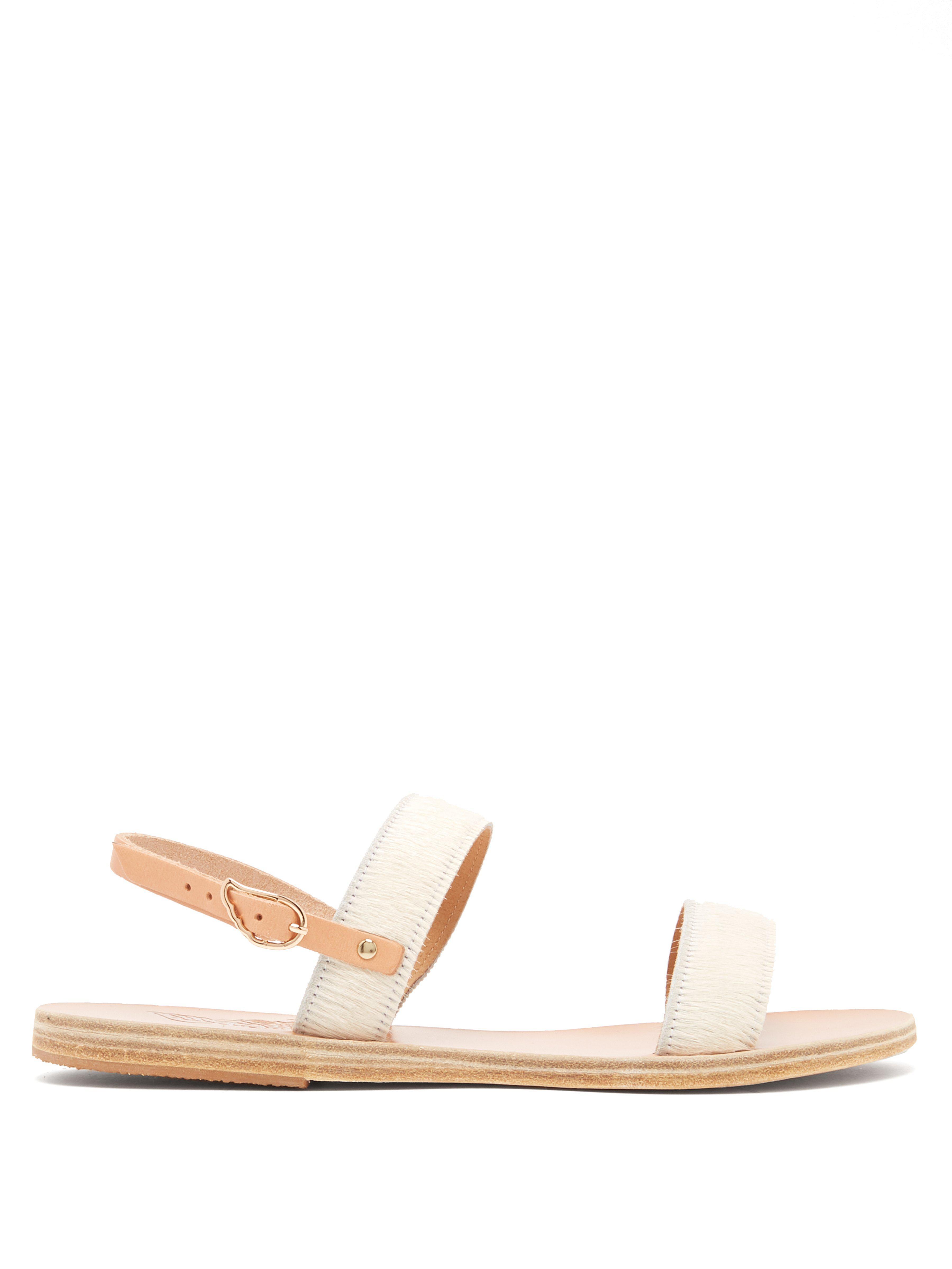 0559be10b3d31 Ancient Greek Sandals Clio Calf Hair Sandals in White - Lyst