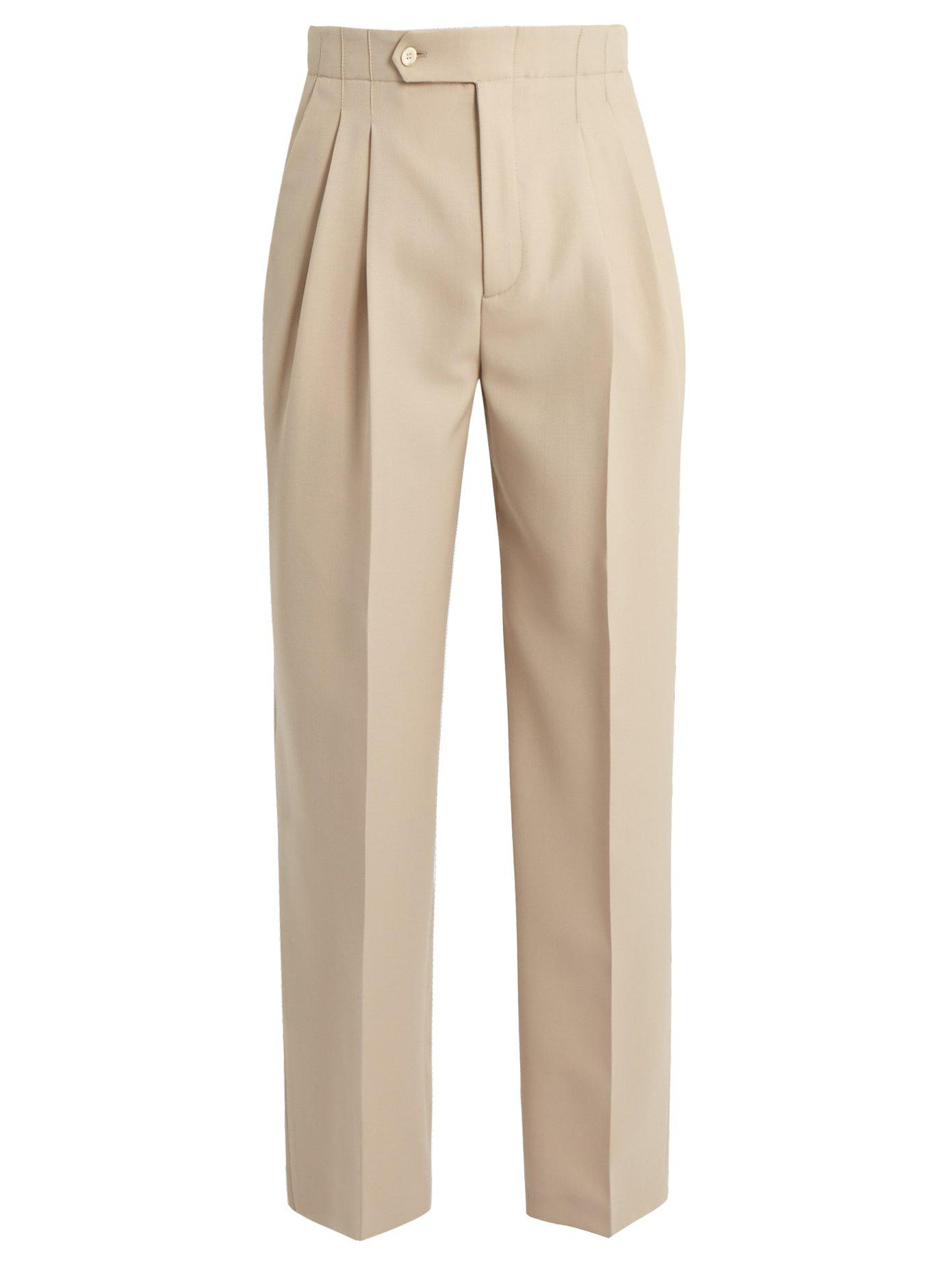 Pleated straight-leg wool trousers Éditions M.R PuTMhm2