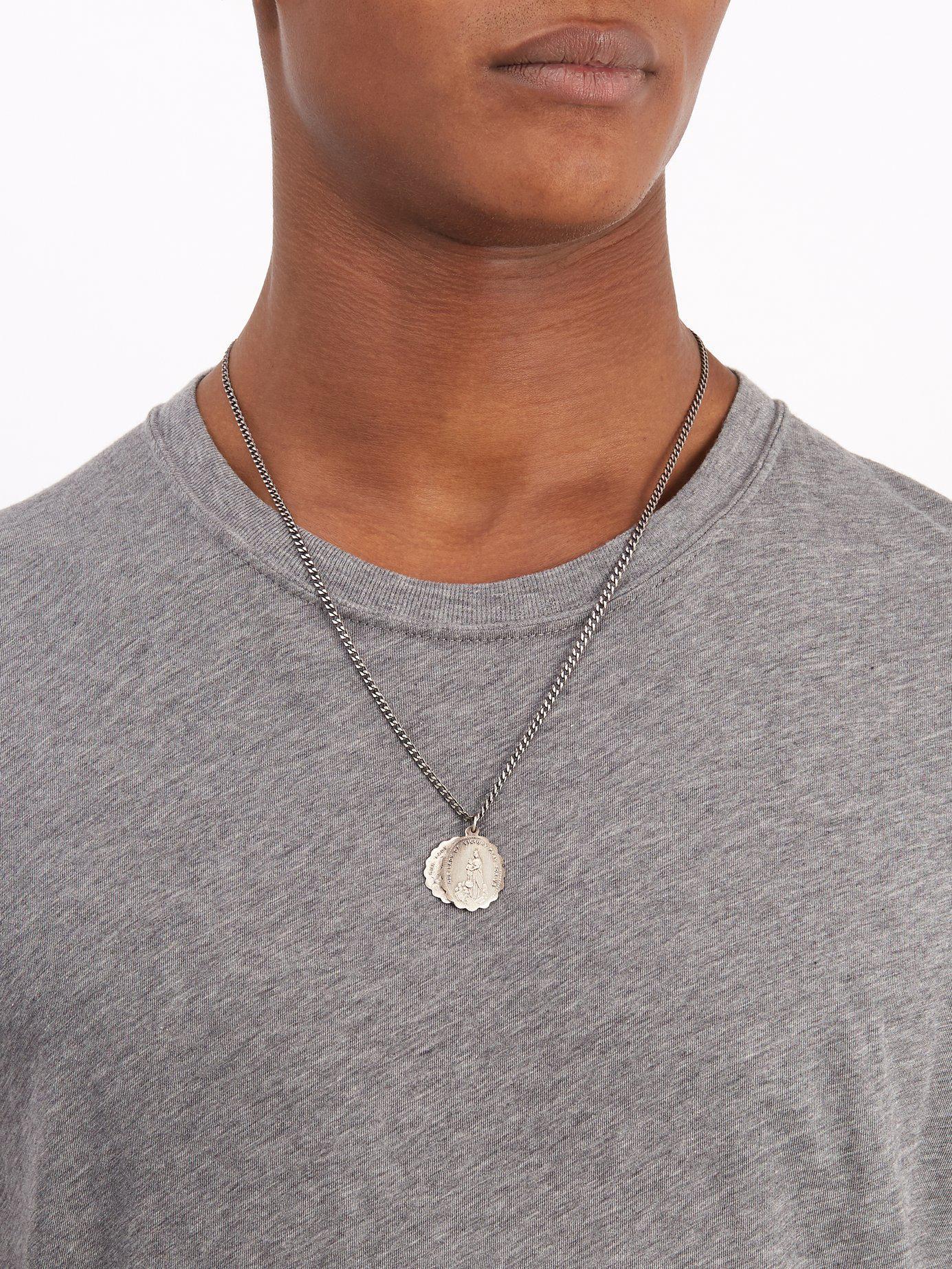 18778e8dc8576 Lyst - Miansai Saints Sterling Silver Necklace in Metallic for Men