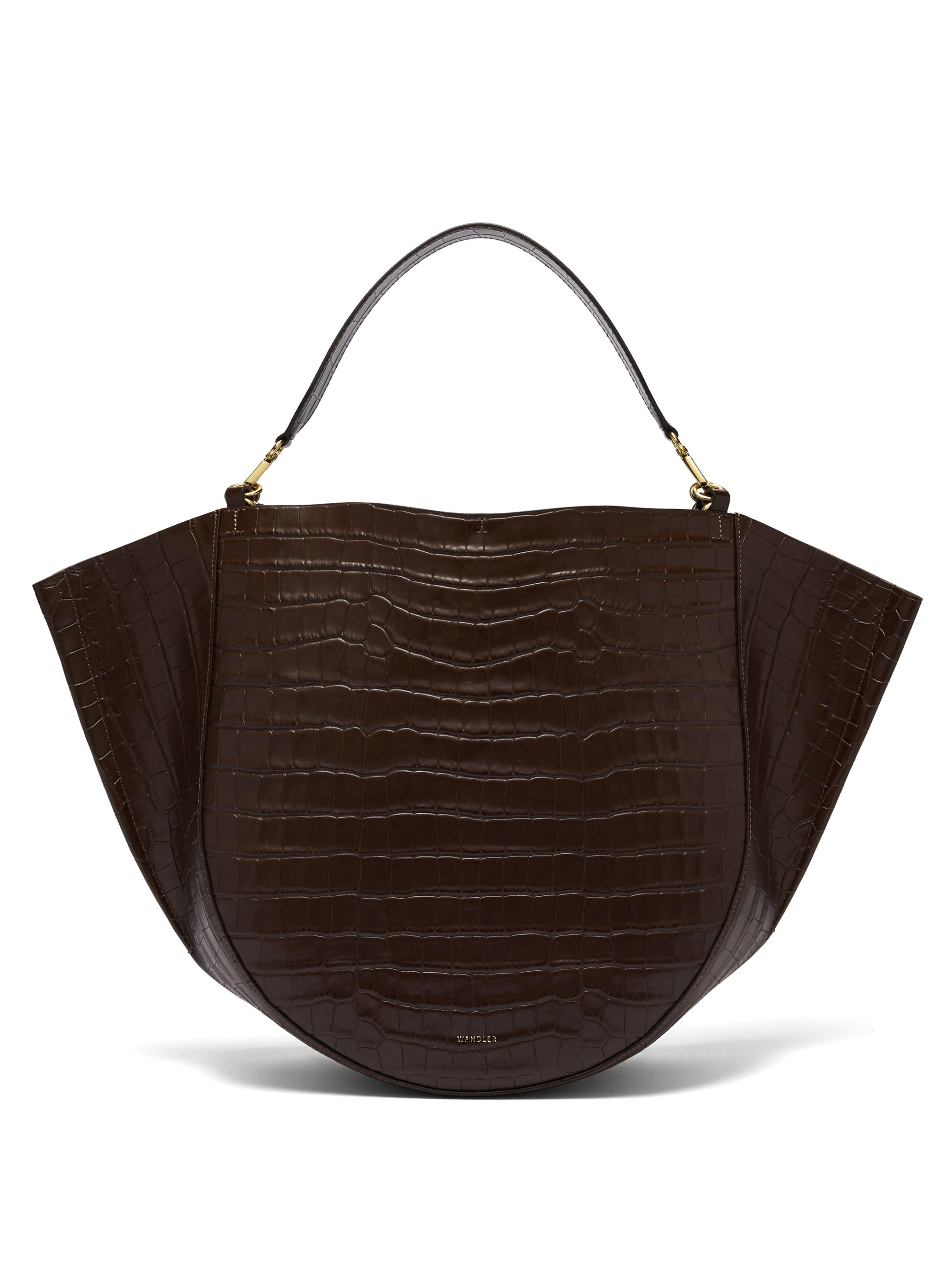 Wandler Mia Bag Crocodile Lyst In Effect Brown Leather Tote R4y1RqZ