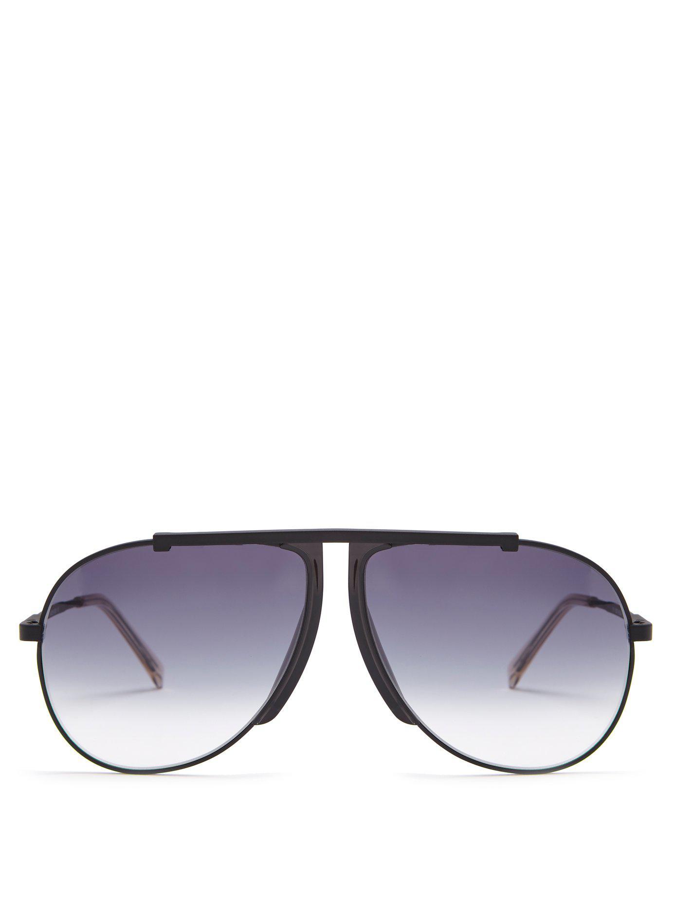 72eafa6470 Lyst - Céline Aviator Frame Sunglasses in Black