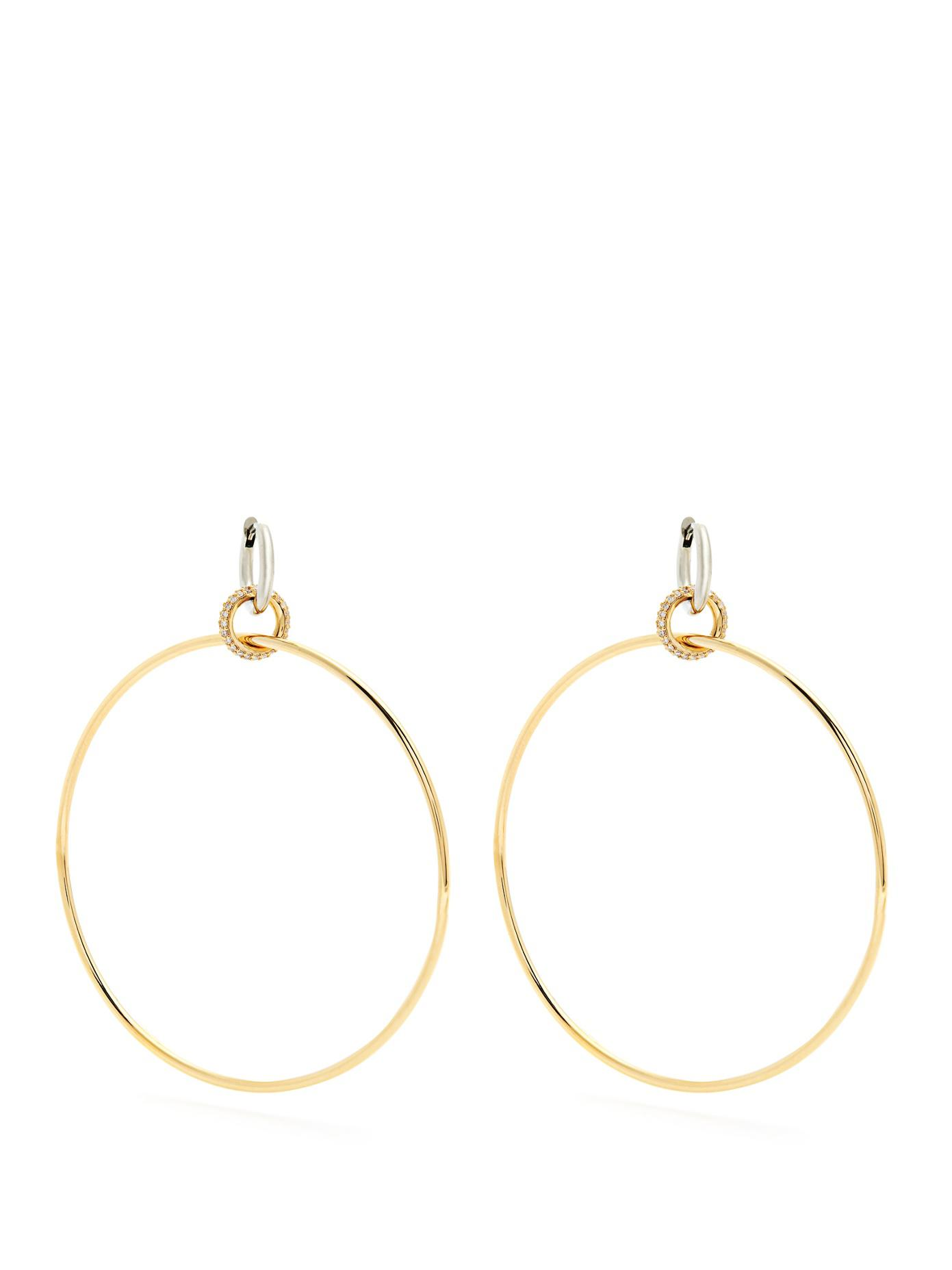 Altaire diamond, white & yellow-gold earrings Spinelli Kilcollin