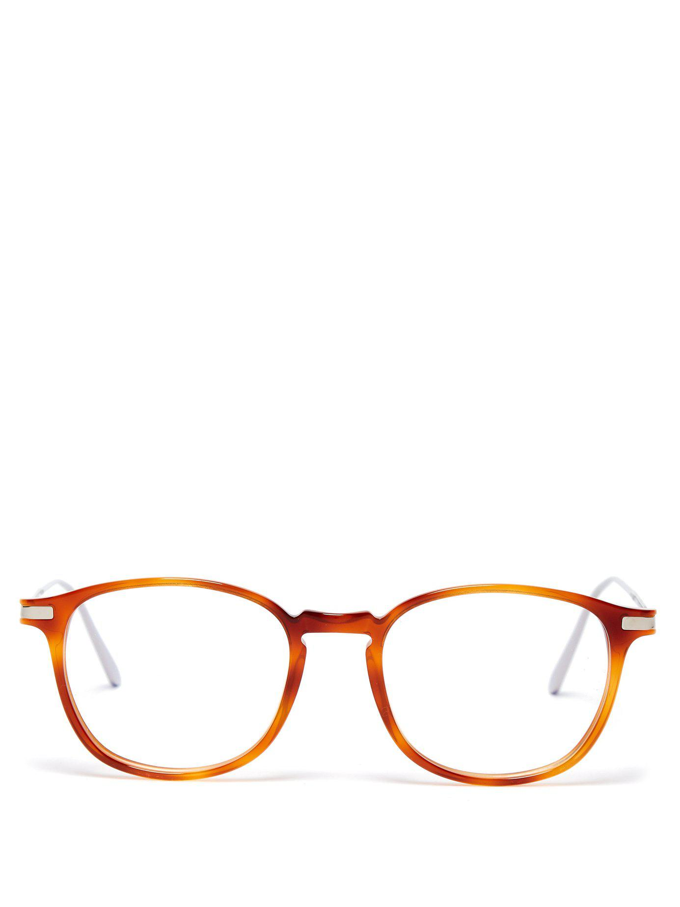 941ae17a8d Lyst - Cutler   Gross Round Frame Tortoiseshell Acetate Glasses in ...