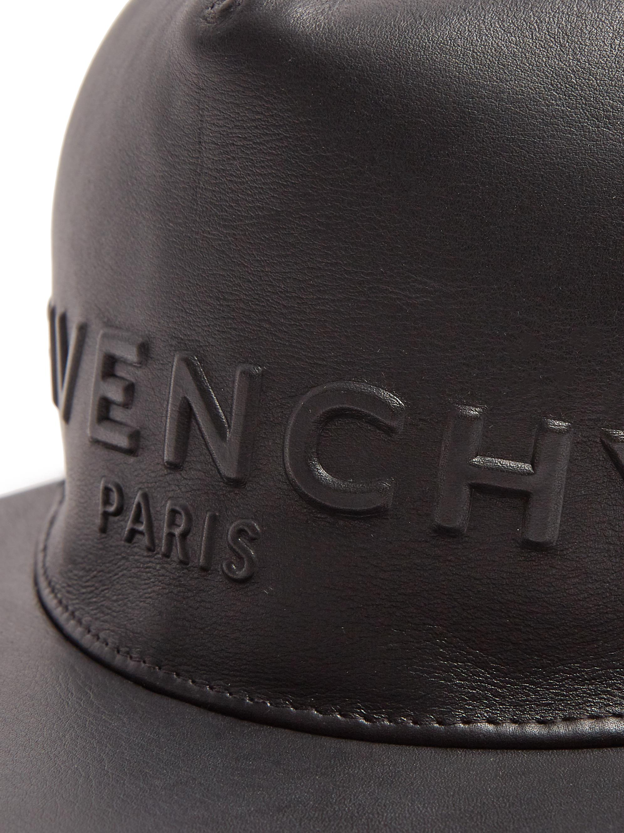 Lyst - Givenchy Logo-embossed Leather Cap in Black for Men 4546be3c7f5