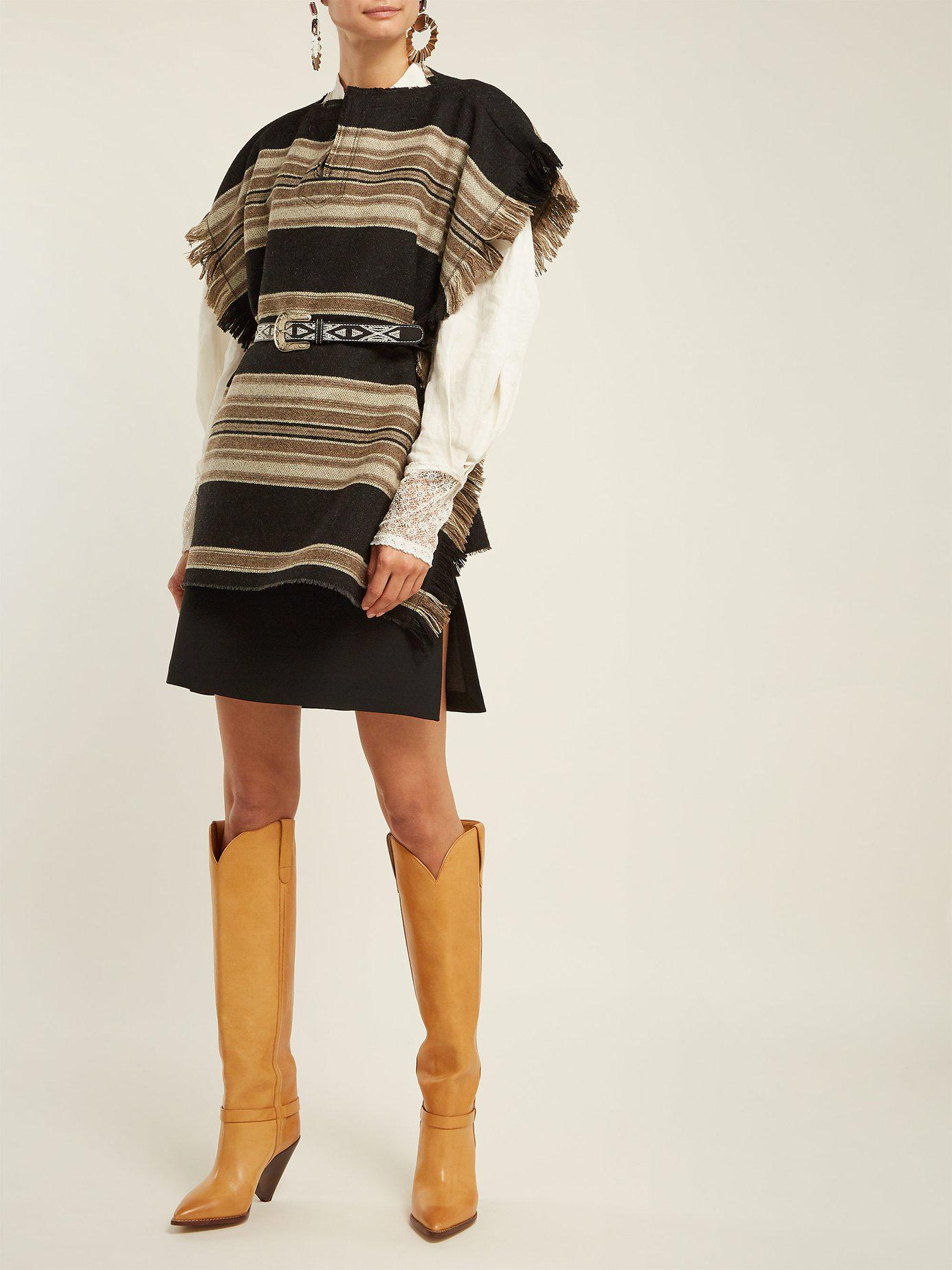 8fb34f6e52a Lyst - Isabel Marant Lafsten Thigh High Leather Boots in Brown