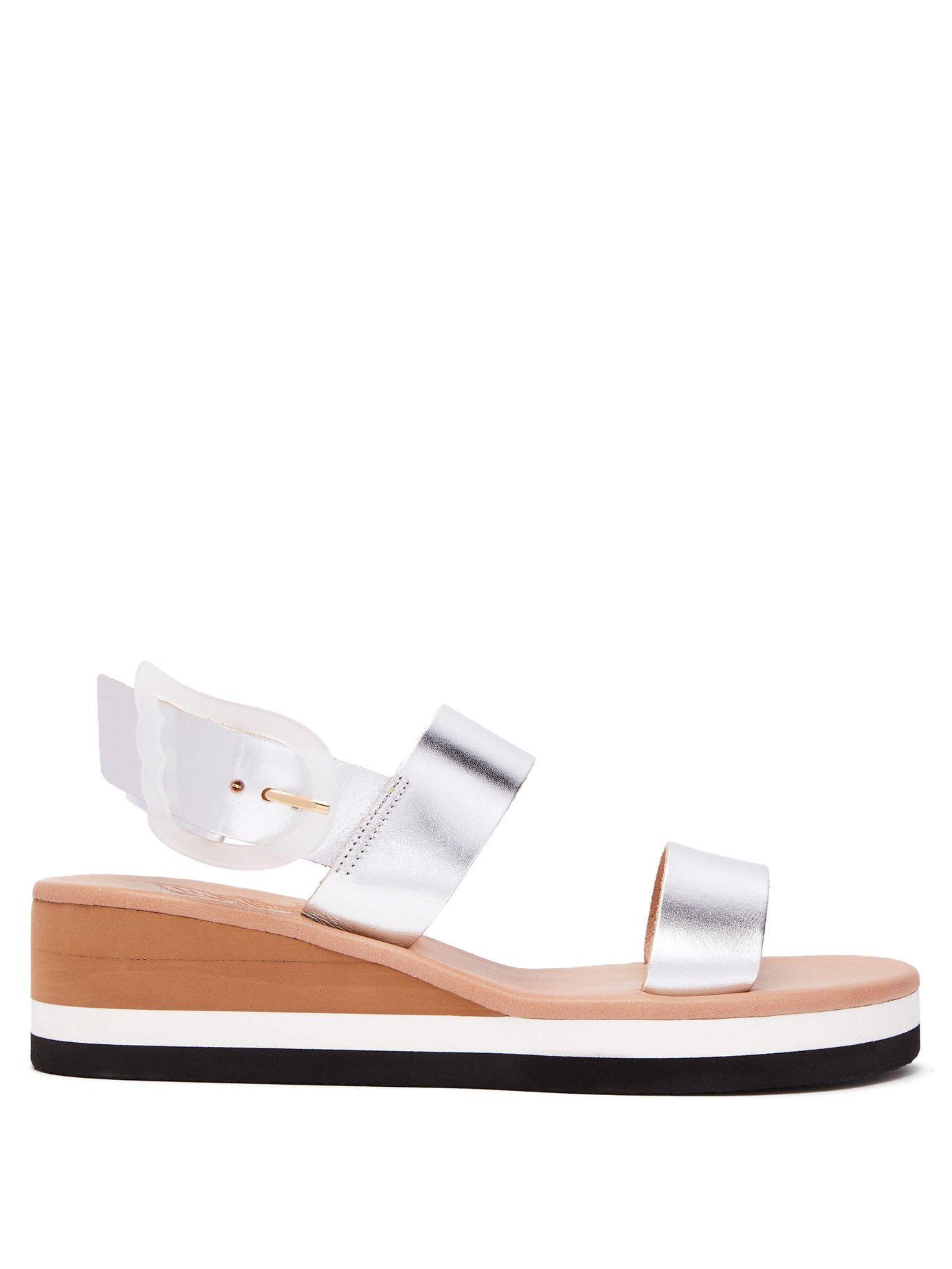 3d3a6ce20af7 Lyst - Ancient Greek Sandals Clio Rainbow Wedge Heel Leather Sandals