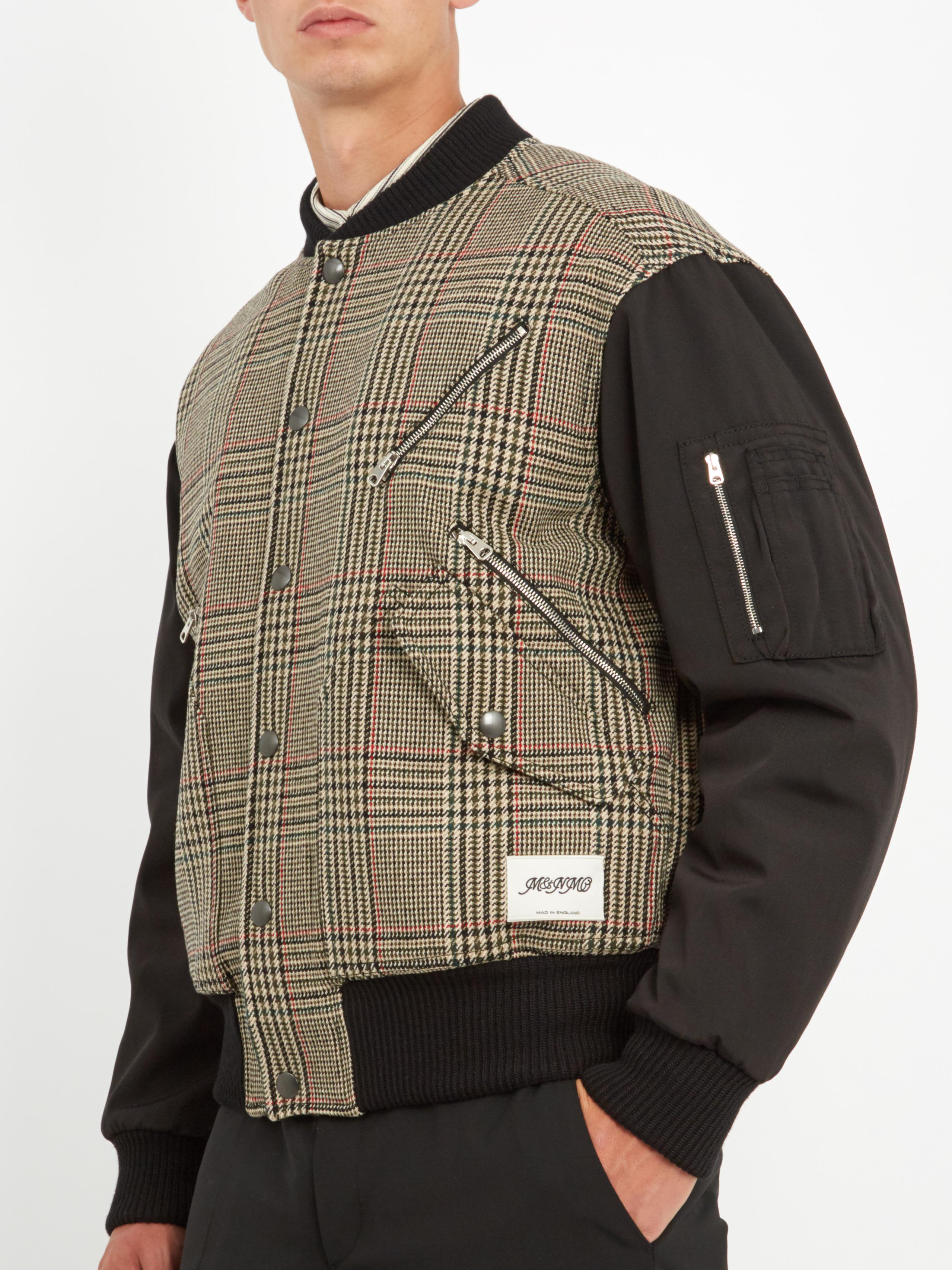 c0a81556e Stella McCartney Contrasting Checked Wool-blend Bomber Jacket for ...