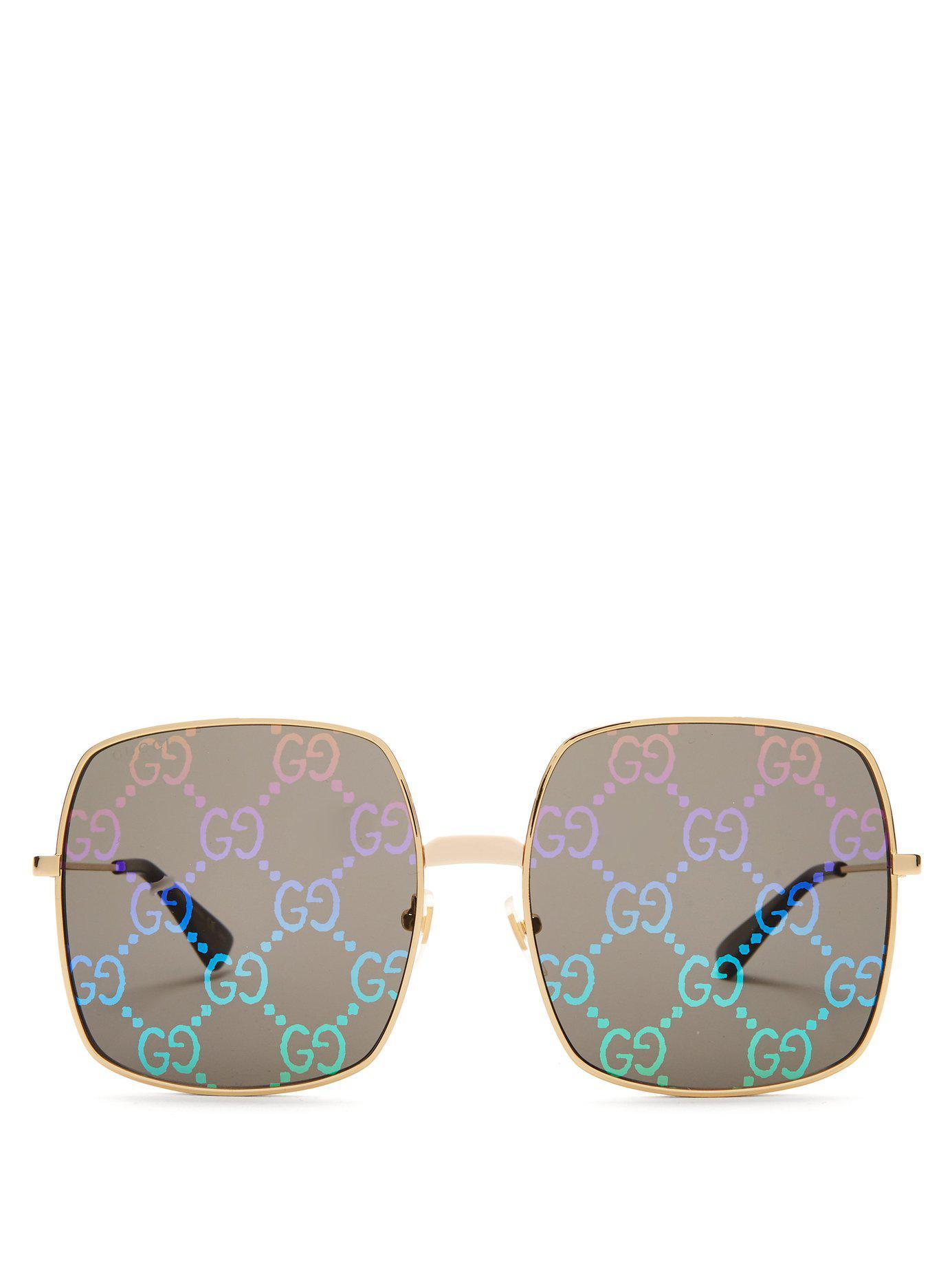 e236262a3e Gucci. Women s Gg Supreme Oversized Sunglasses