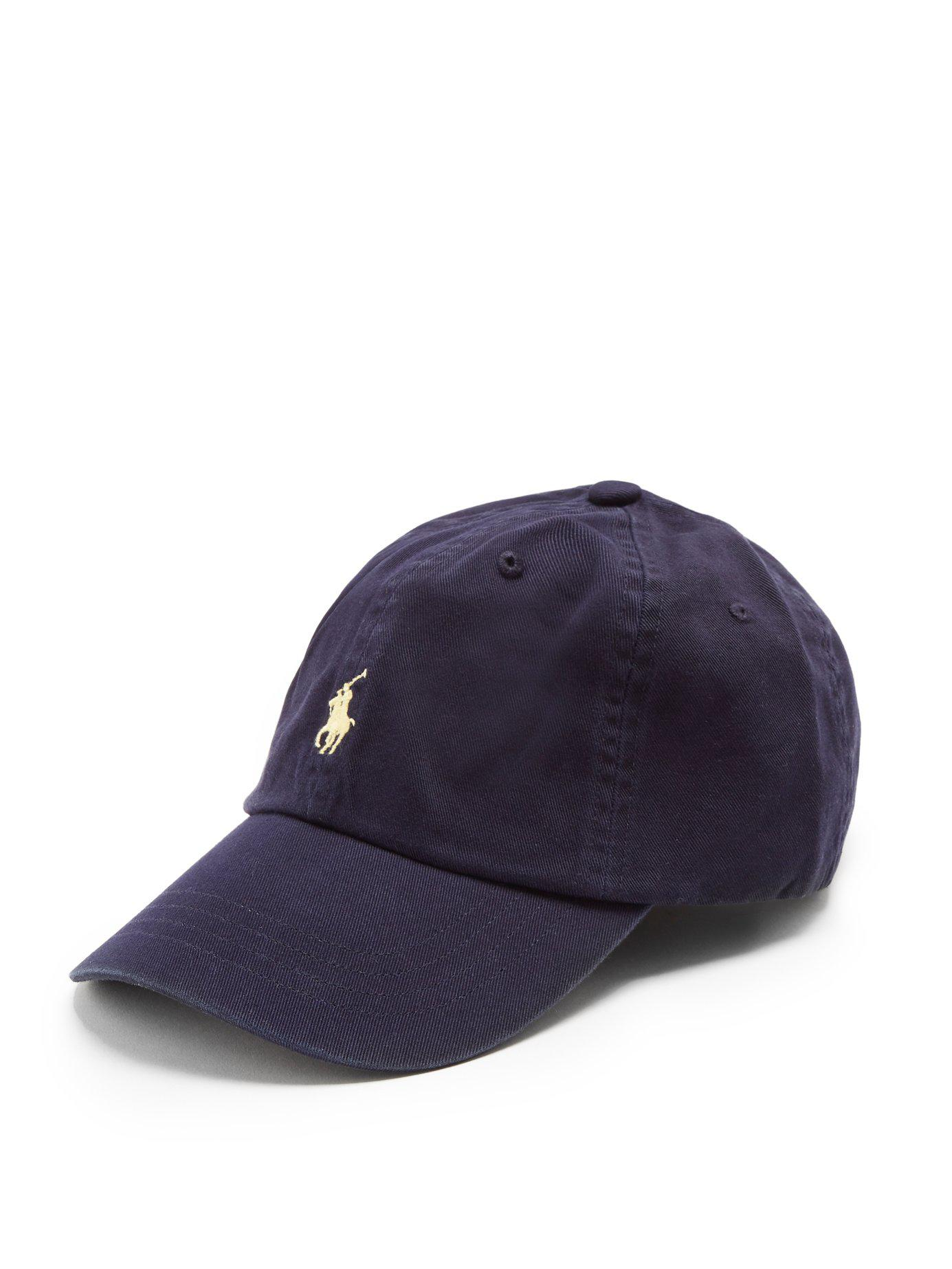 a1827bf3c52 Lyst - Polo Ralph Lauren Logo Embroidered Cotton Cap in Blue for Men