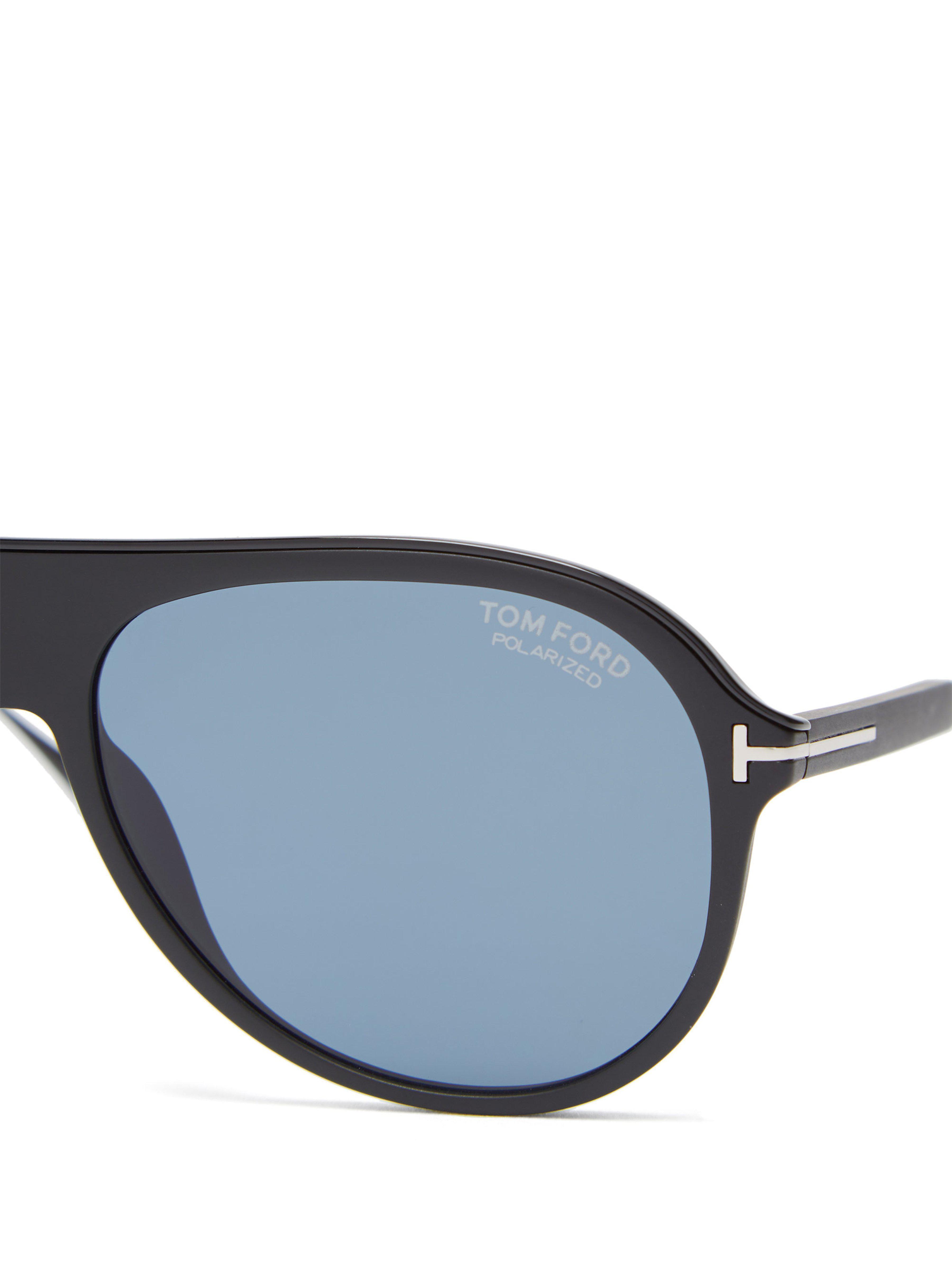 c5fa419721e Tom Ford - Black Nicholai Acetate Sunglasses for Men - Lyst. View fullscreen