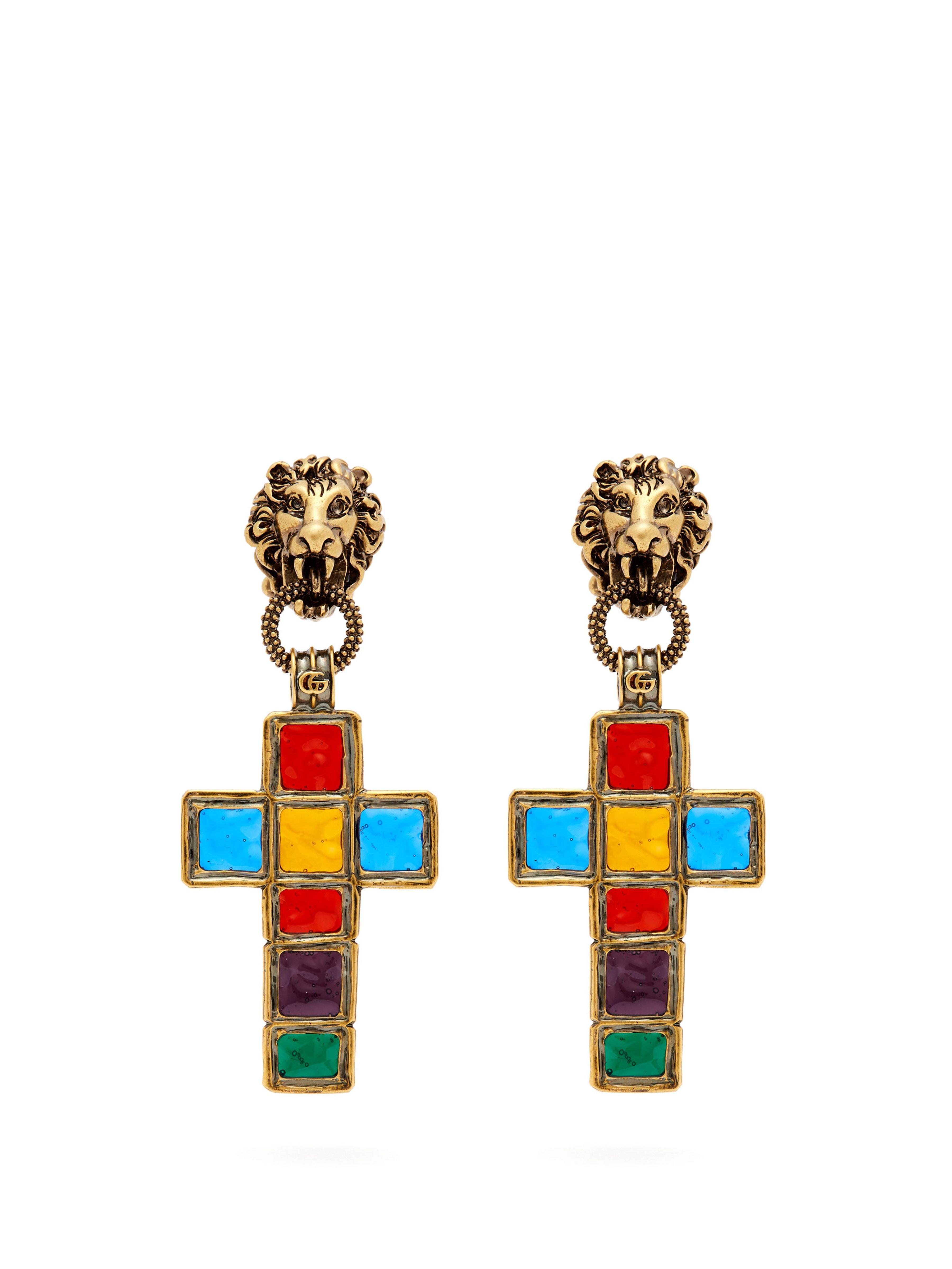 576975aad81 Gucci. Women s Enamelled Cross Clip Earrings