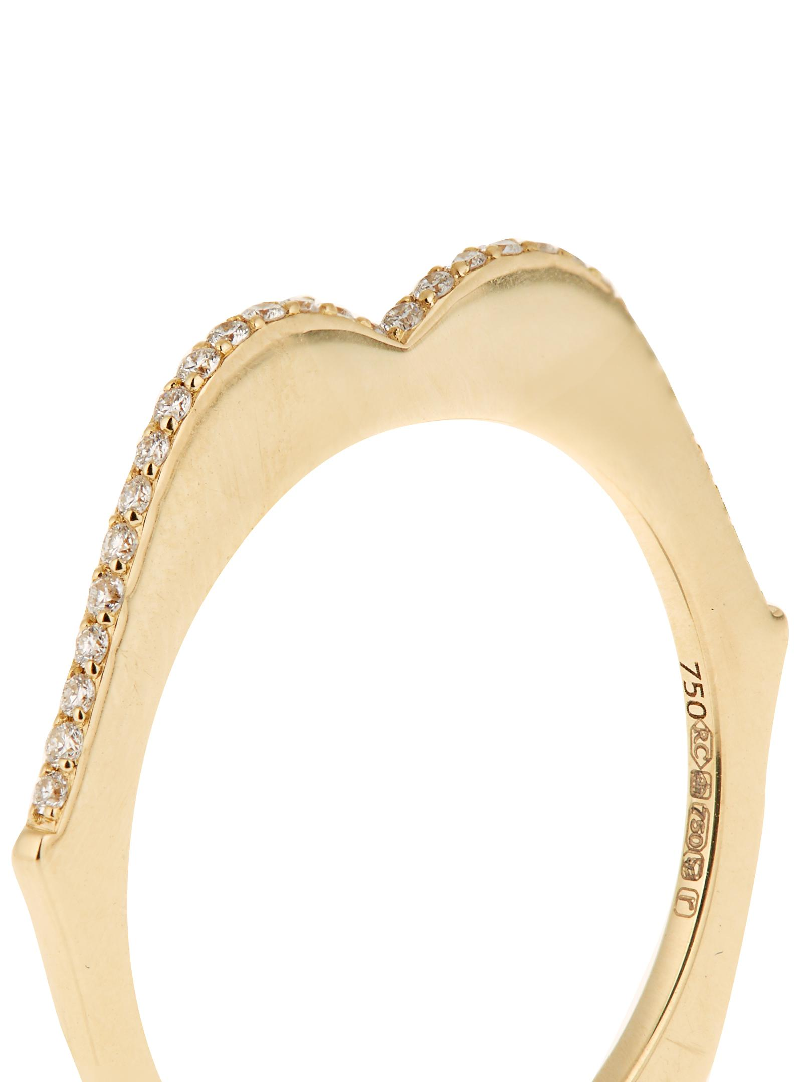 Raphaele Canot OMG! diamond & yellow-gold ring AE937N