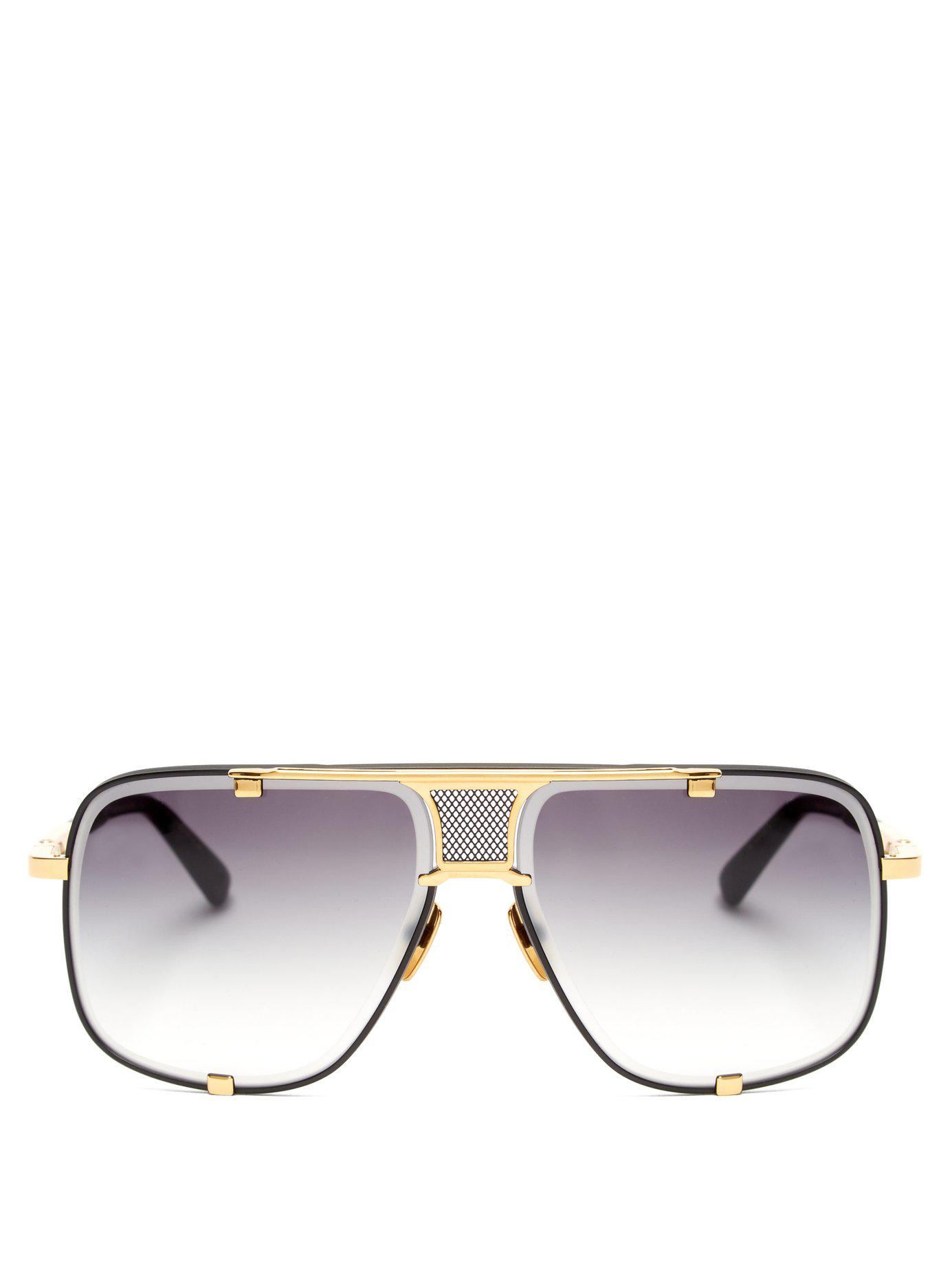 223d8a78177 Lyst - Dita Eyewear Mach Five Aviator Sunglasses in Black for Men