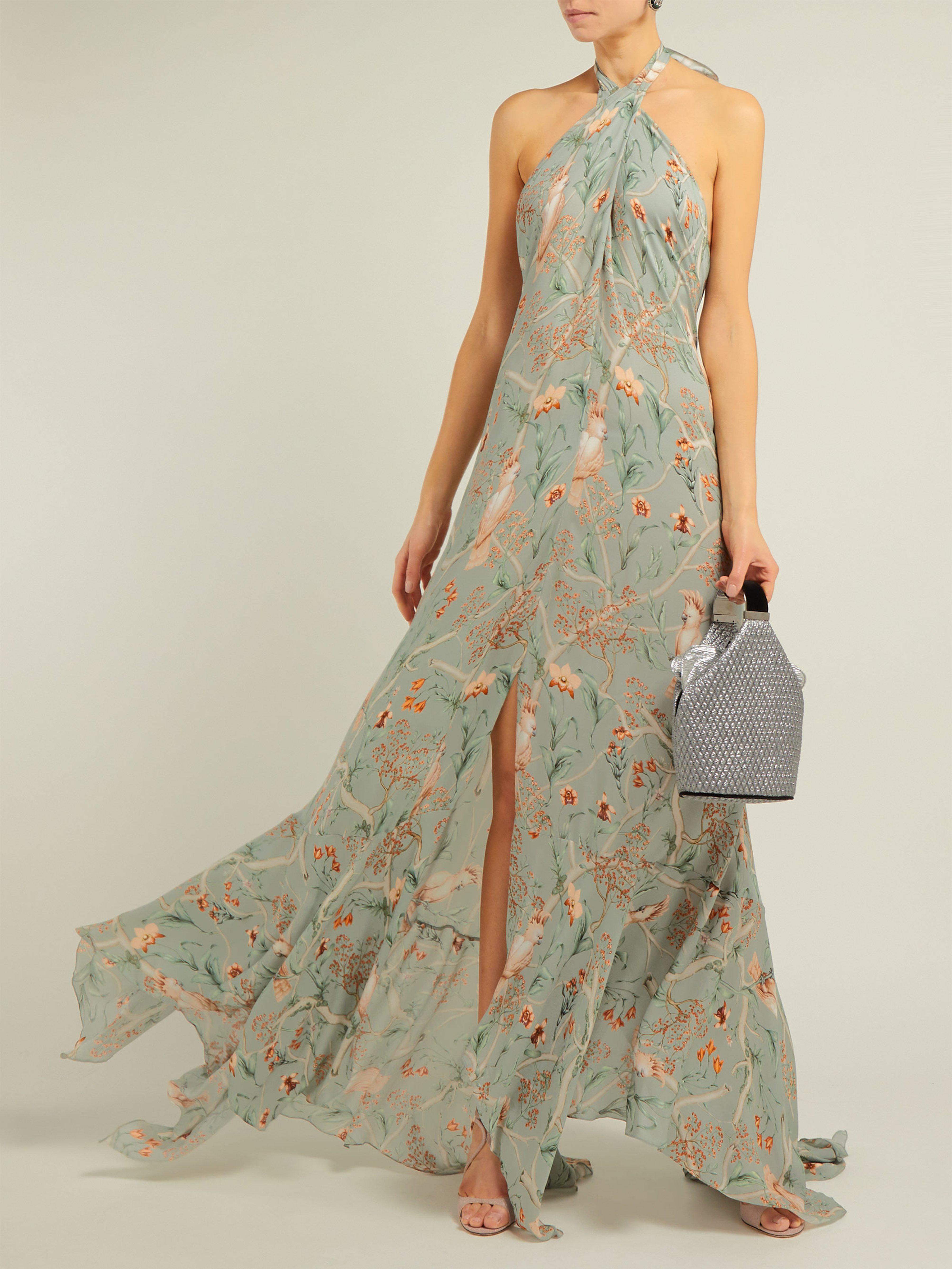 d7c03a0580b Johanna Ortiz Vanuato Floral Print Silk Georgette Gown - Lyst