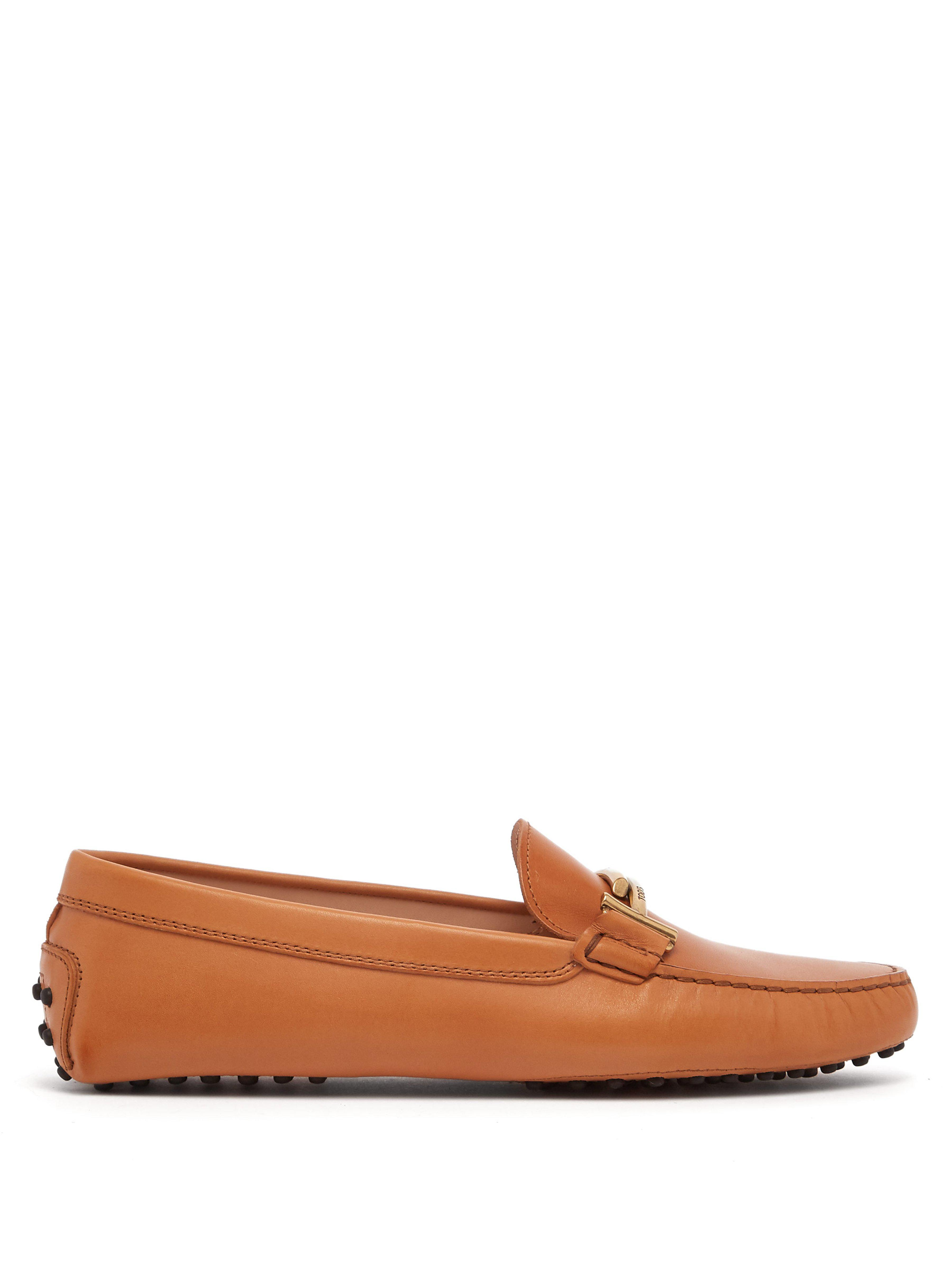 379d318c686 Tod S Gommino Double T Leather Loafer in Brown - Lyst