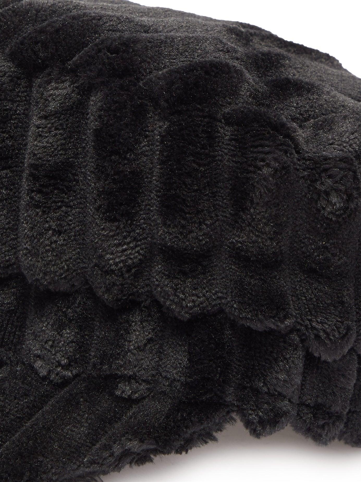 1109afc38645 Isabel Marant Evie Fleece Baker Boy Hat in Black - Save 64% - Lyst