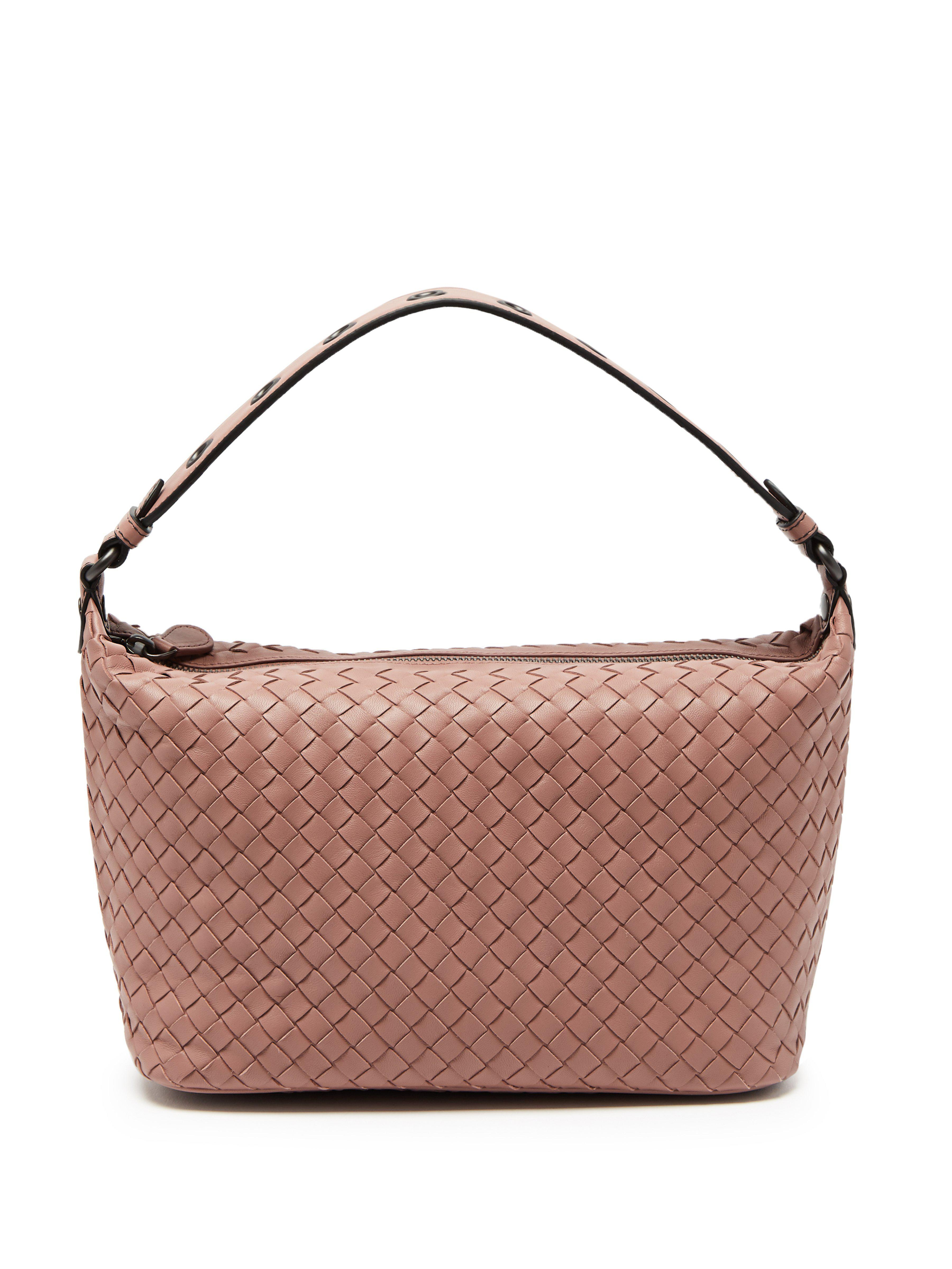 9b8b002a2c0b Bottega Veneta Eyelet Detail Shoulder Bag in Pink - Lyst