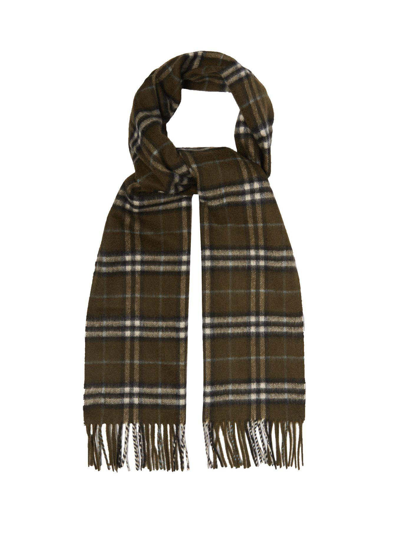 71c91a9ef9a6 Lyst - Burberry Vintage Check Cashmere Scarf in Brown for Men