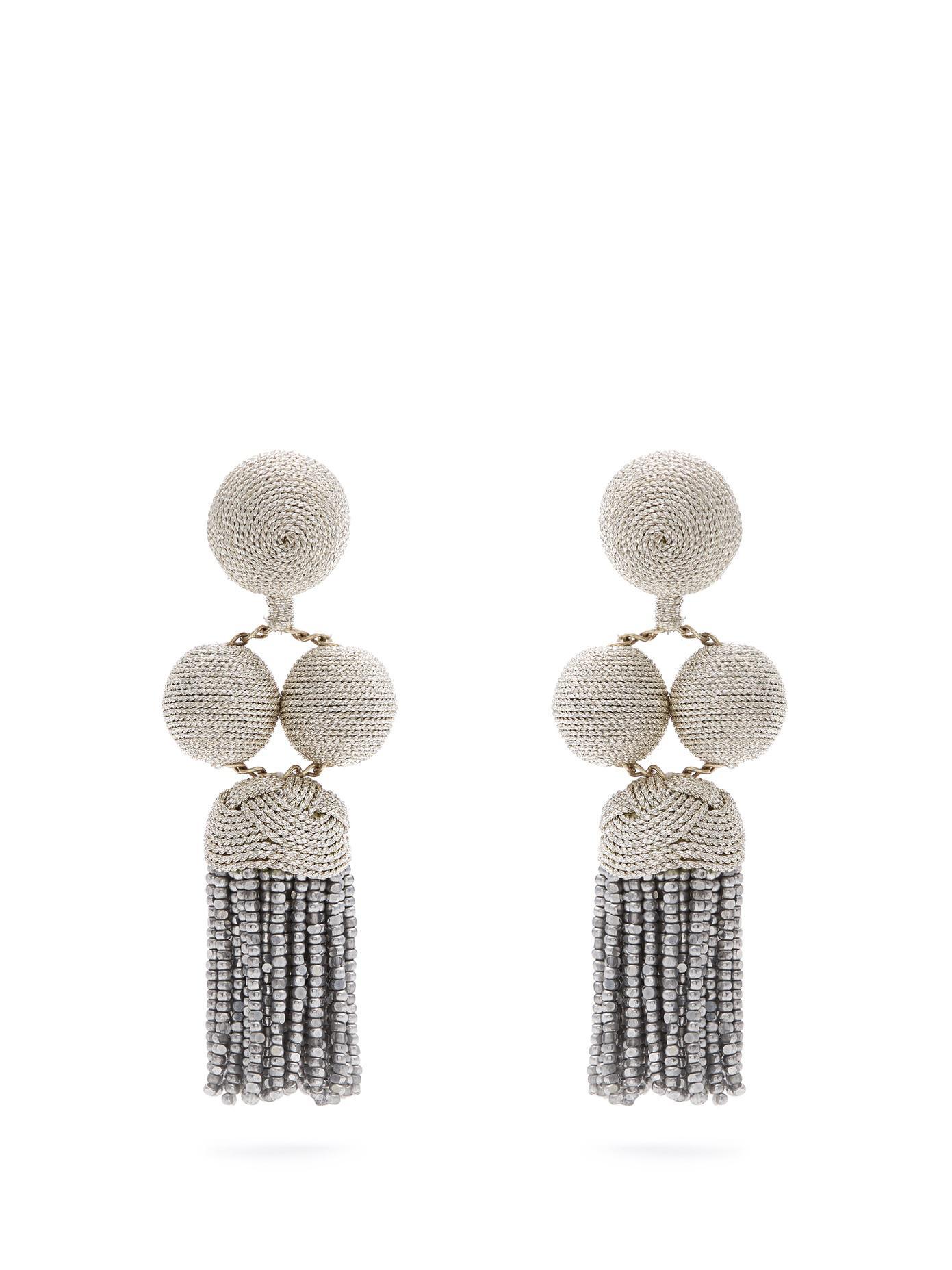 Rebecca de Ravenel Cindy hoop-drop clip-on earrings wgxjNKIq