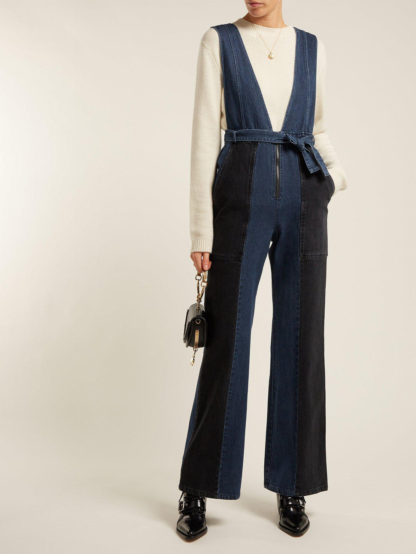a44463a8d2a8 Lyst - Sea Paneled Denim Jumpsuit in Blue - Save 60%