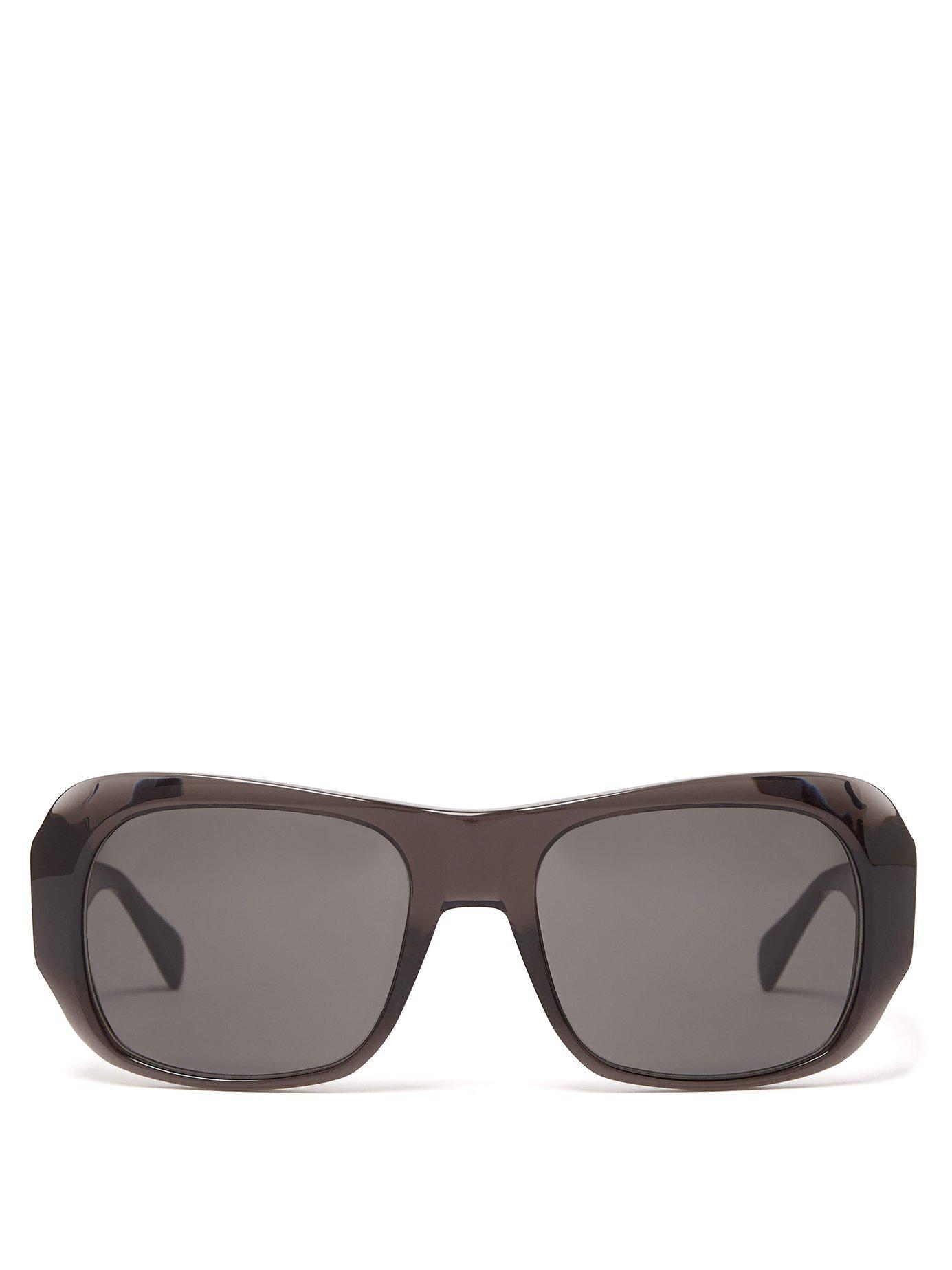 6e8ed23bc4a6 Lyst - Céline Round Edge Acetate Sunglasses in Gray