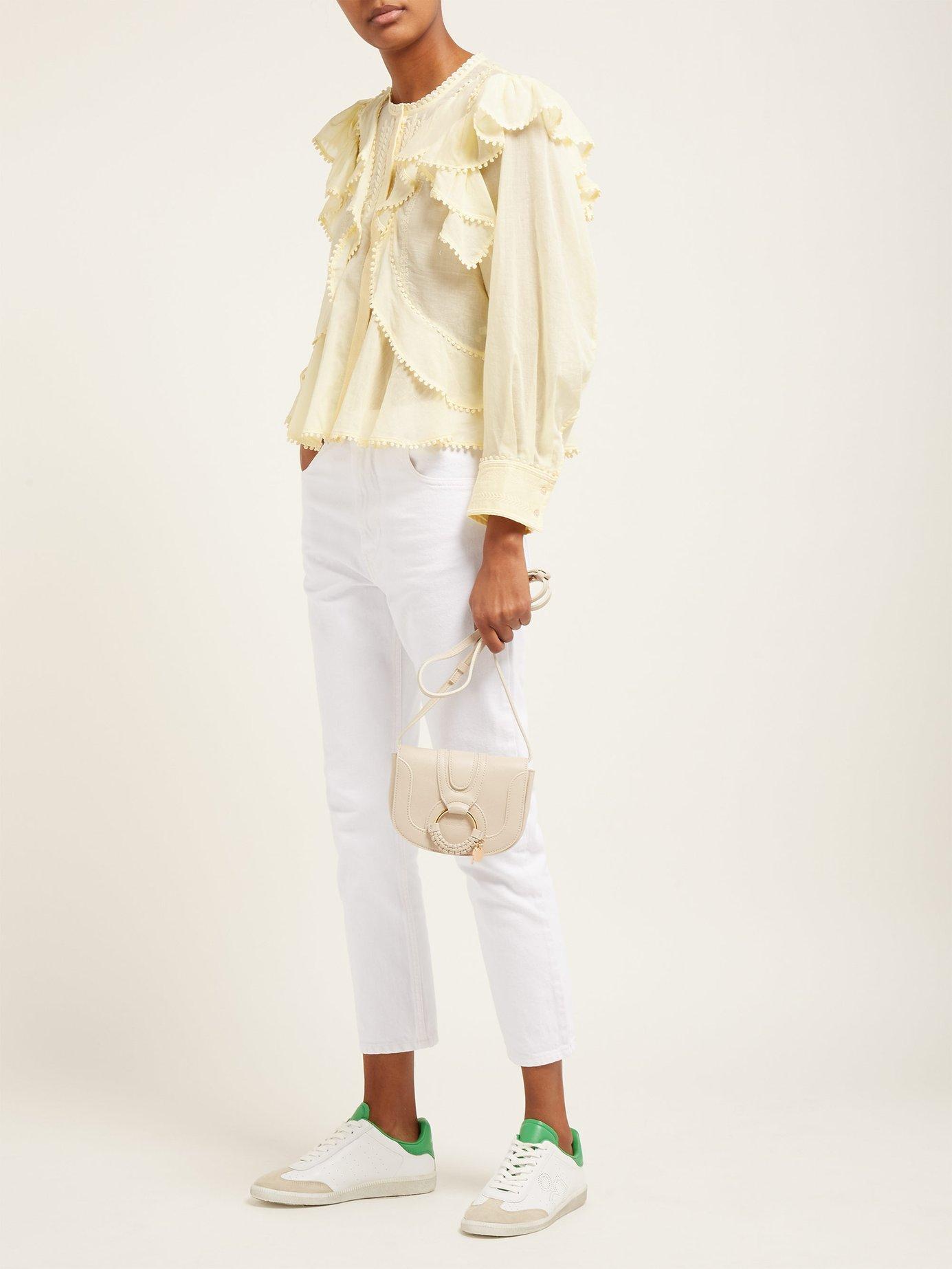 e659a621bc660 Étoile Isabel Marant - Natural Alea Ruffled Cotton Blouse - Lyst. View  fullscreen