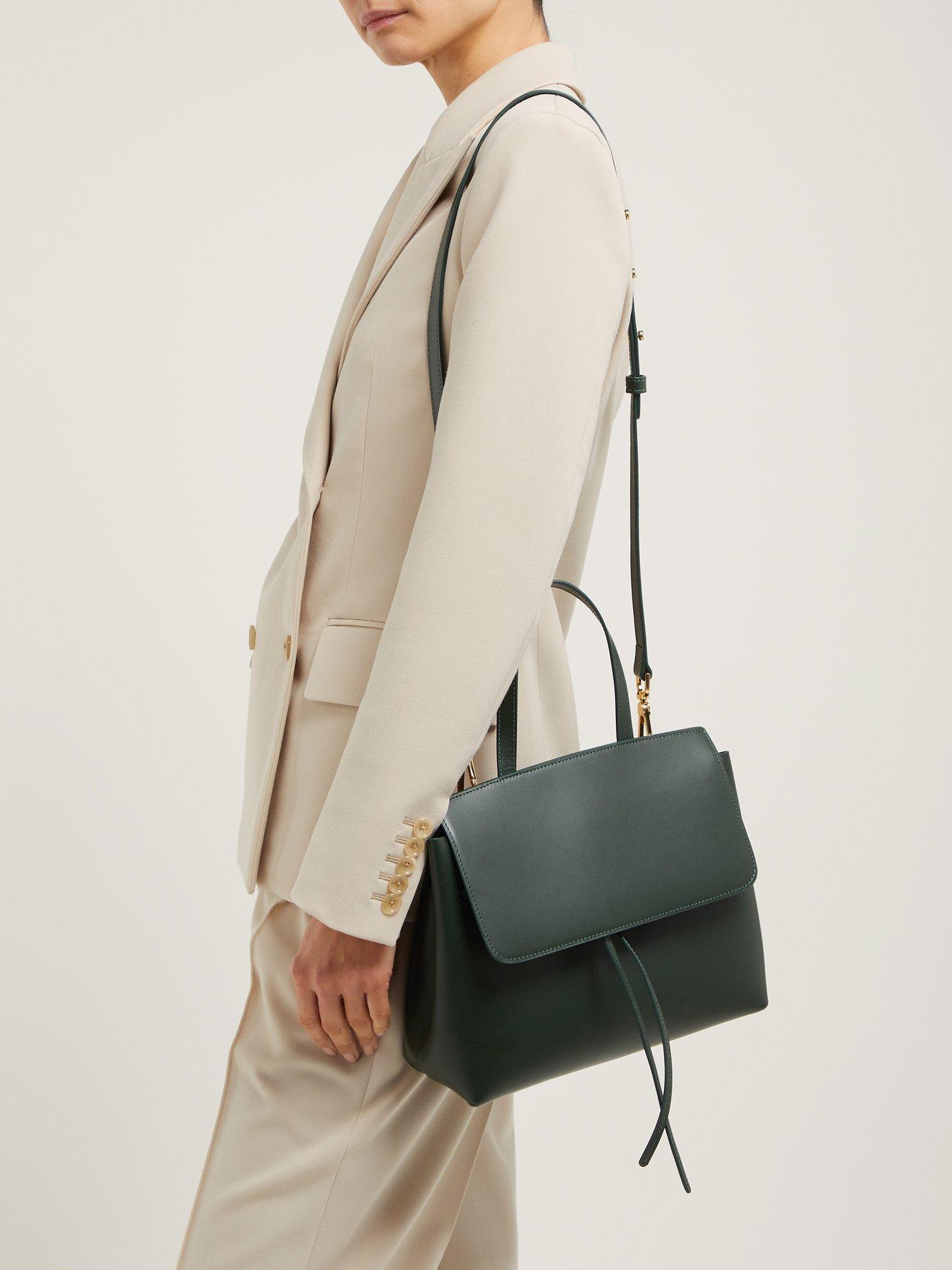 844830adc860 Mansur Gavriel - Green Mini Lady Leather Cross Body Bag - Lyst. View  fullscreen