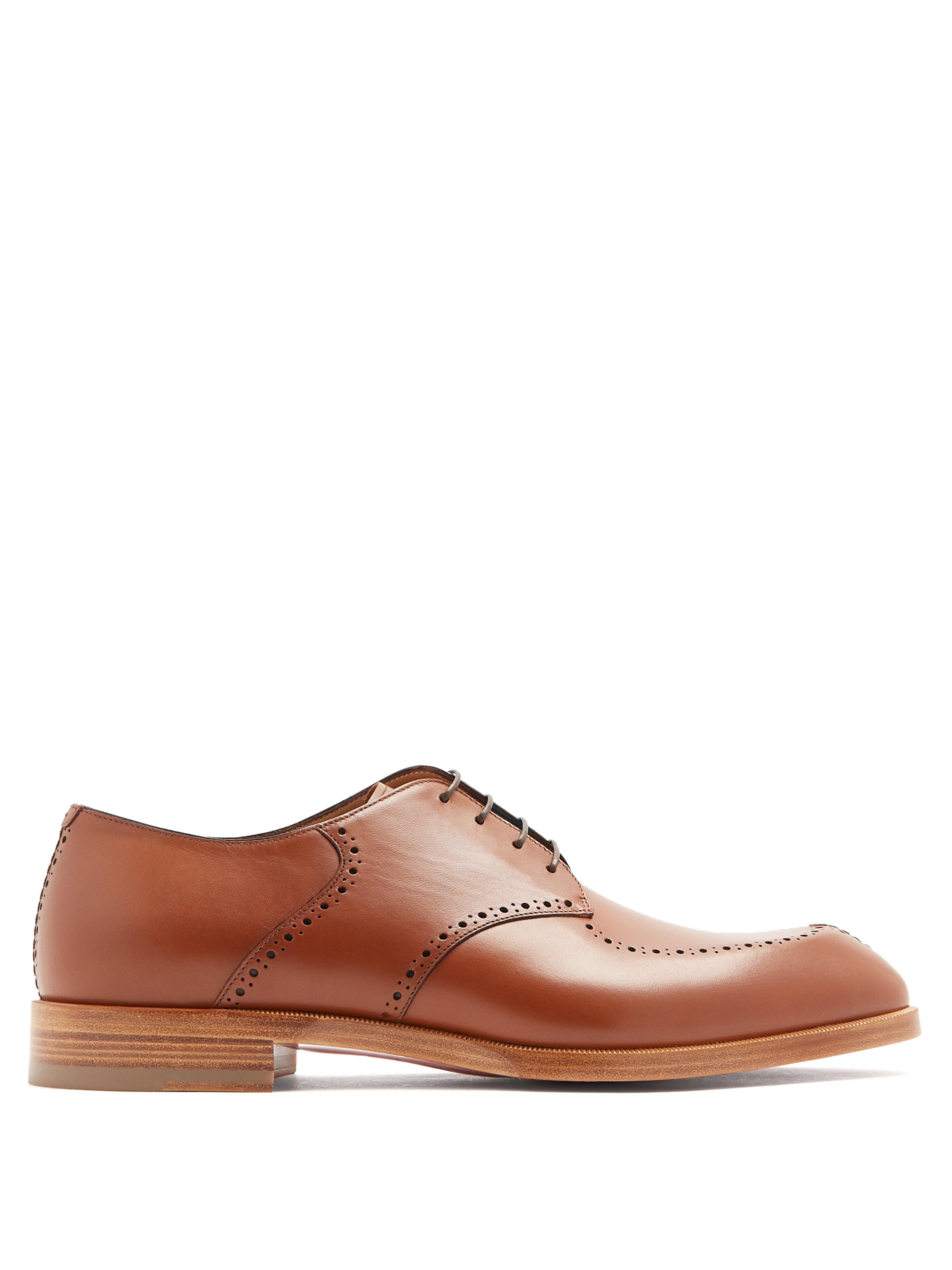 aef81a69924 Christian Louboutin A Mon Homme Leather Derby Shoes in Brown for Men ...