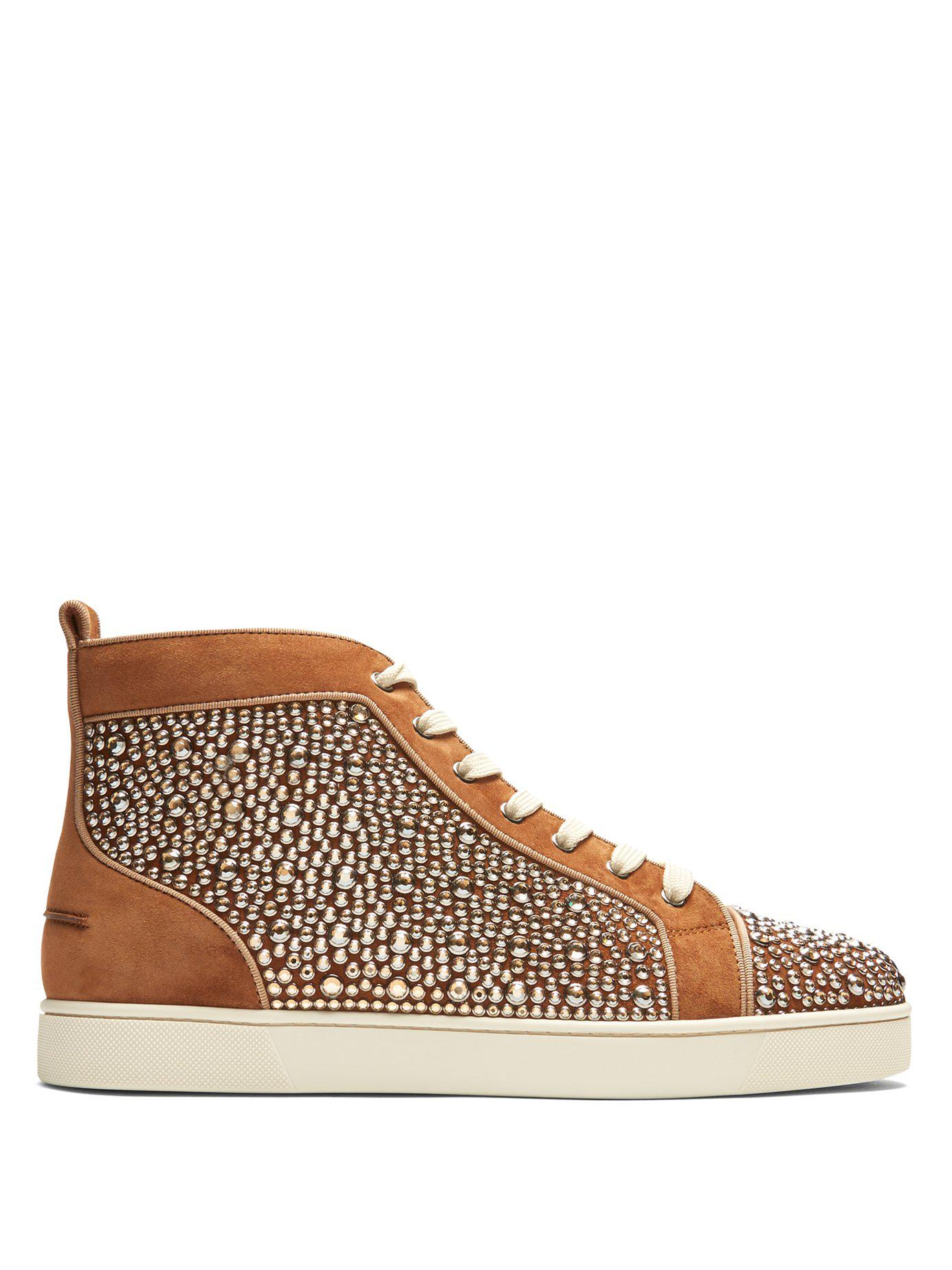 f9534b7d2da Lyst - Christian Louboutin Louis Orlato High Top Leather Trainers in ...