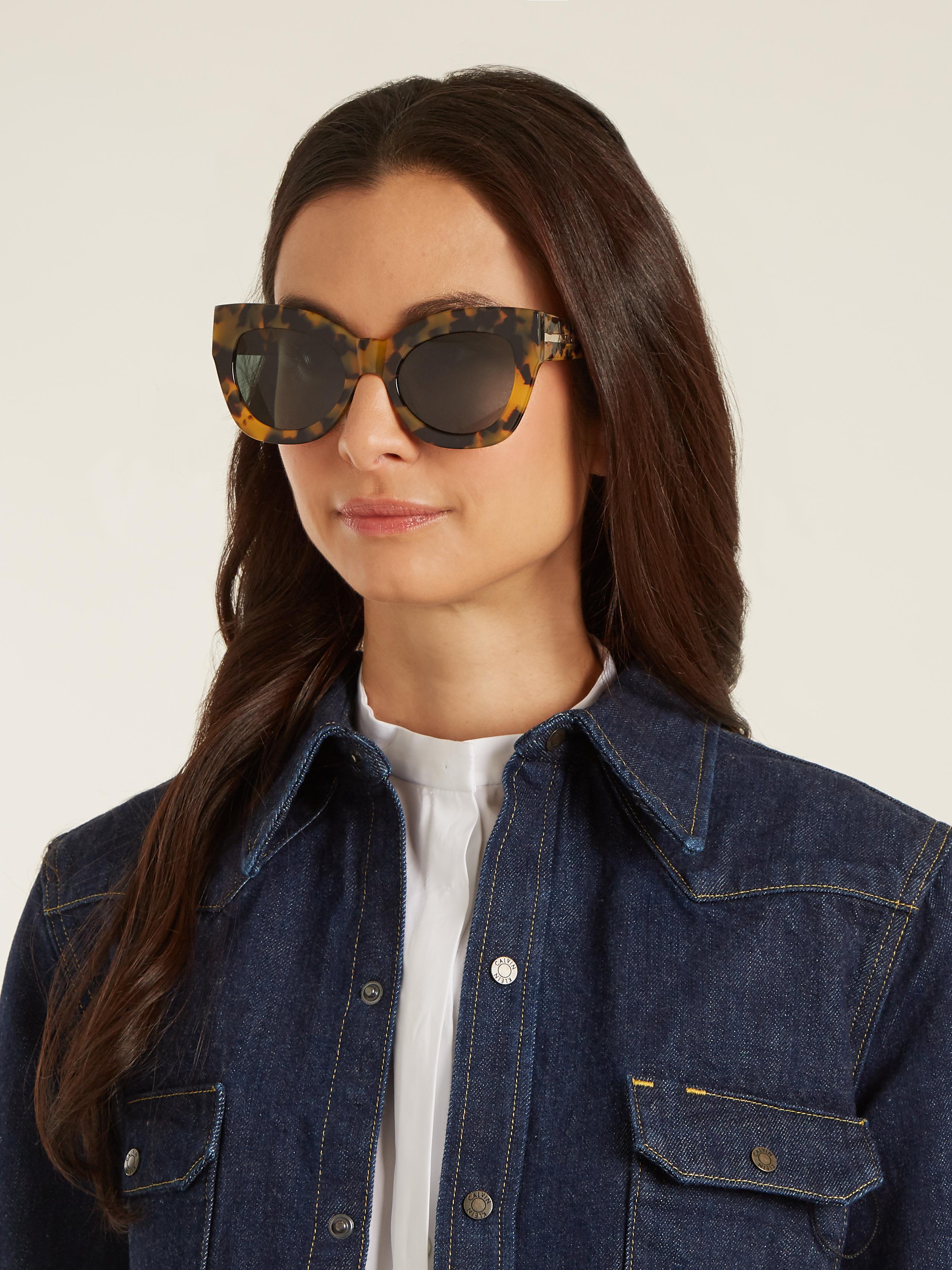 03de107e41 Karen Walker Northern Lights Cat-eye Sunglasses - Lyst