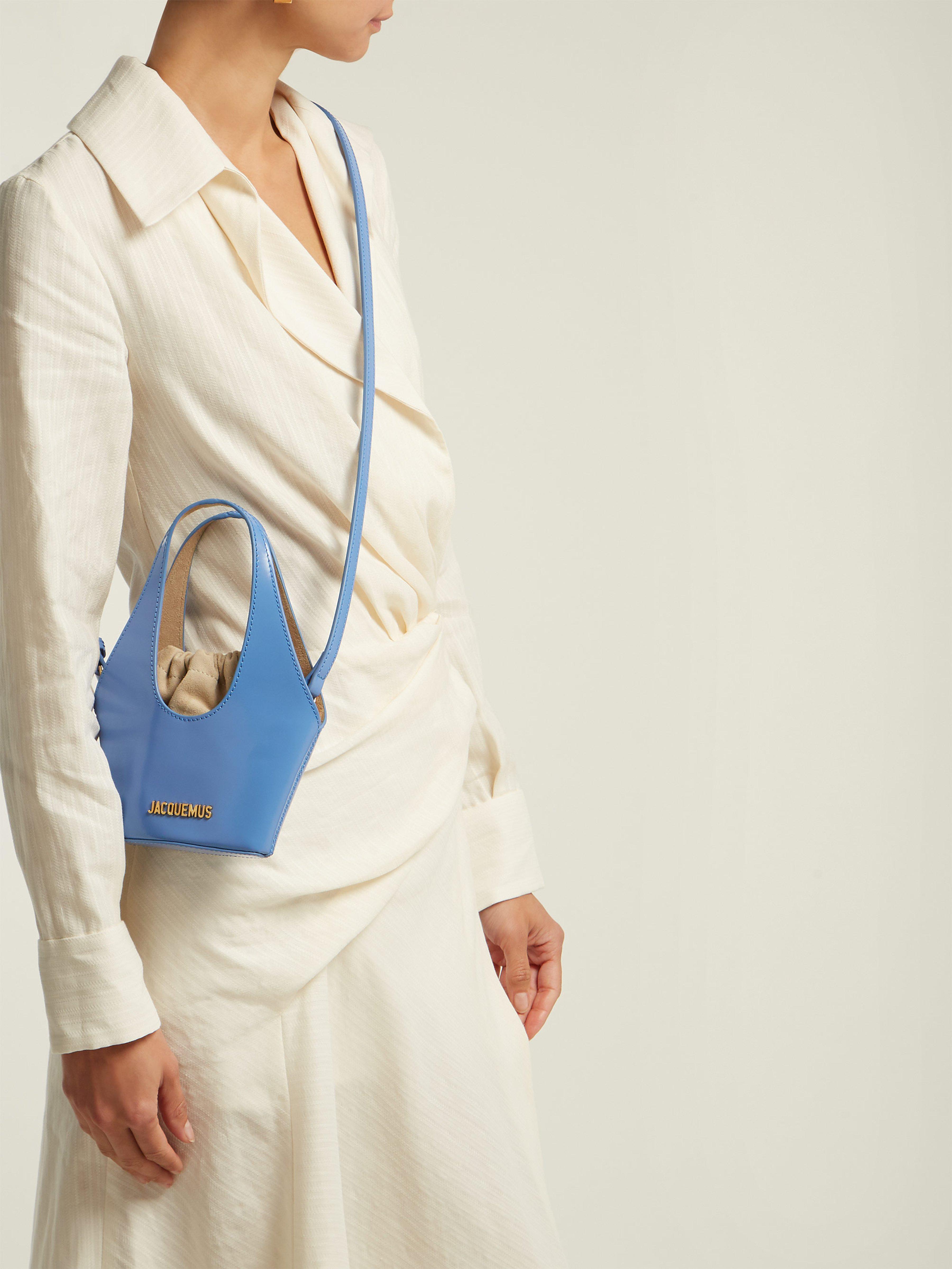 d8478e3fc618 Jacquemus Le Cariño Patent Leather Bag in Blue - Lyst