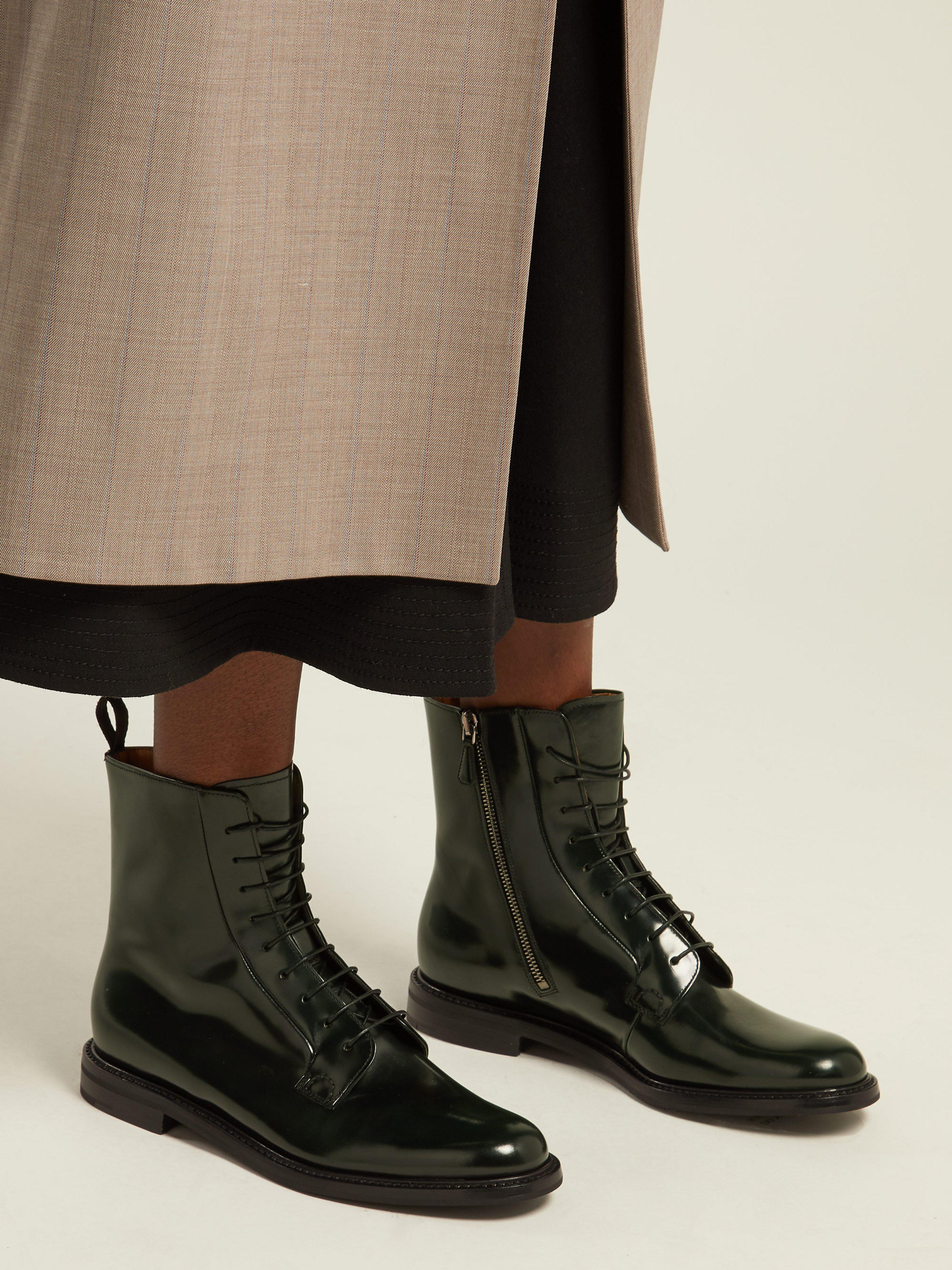 new product 5d36f a4900 churchs-dark-green-Alexandra-Lace-Up-Leather-Ankle-Boots.jpeg