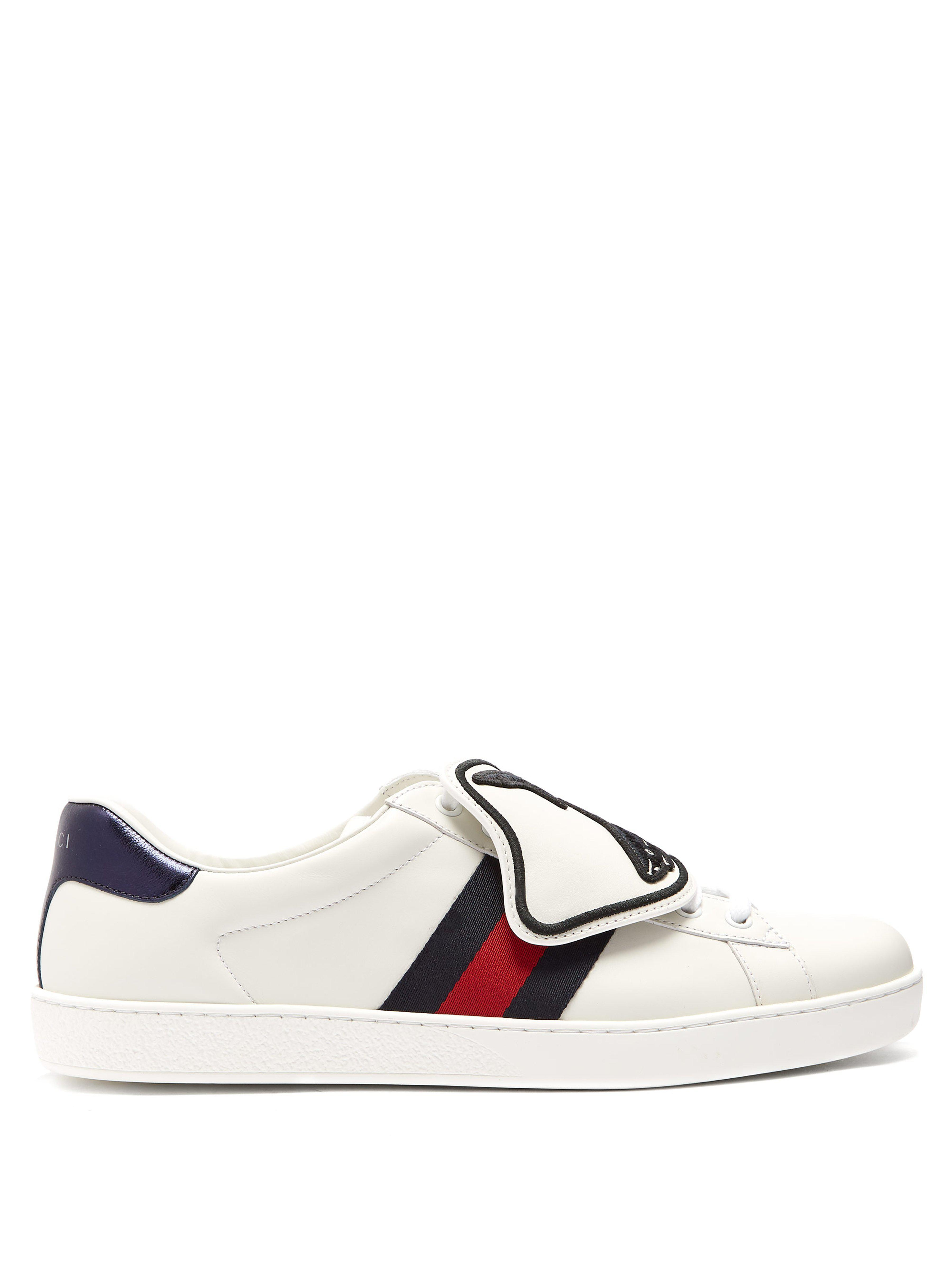 432a3f670d1 Gucci Ace Low Top Leather Trainers in White for Men - Lyst