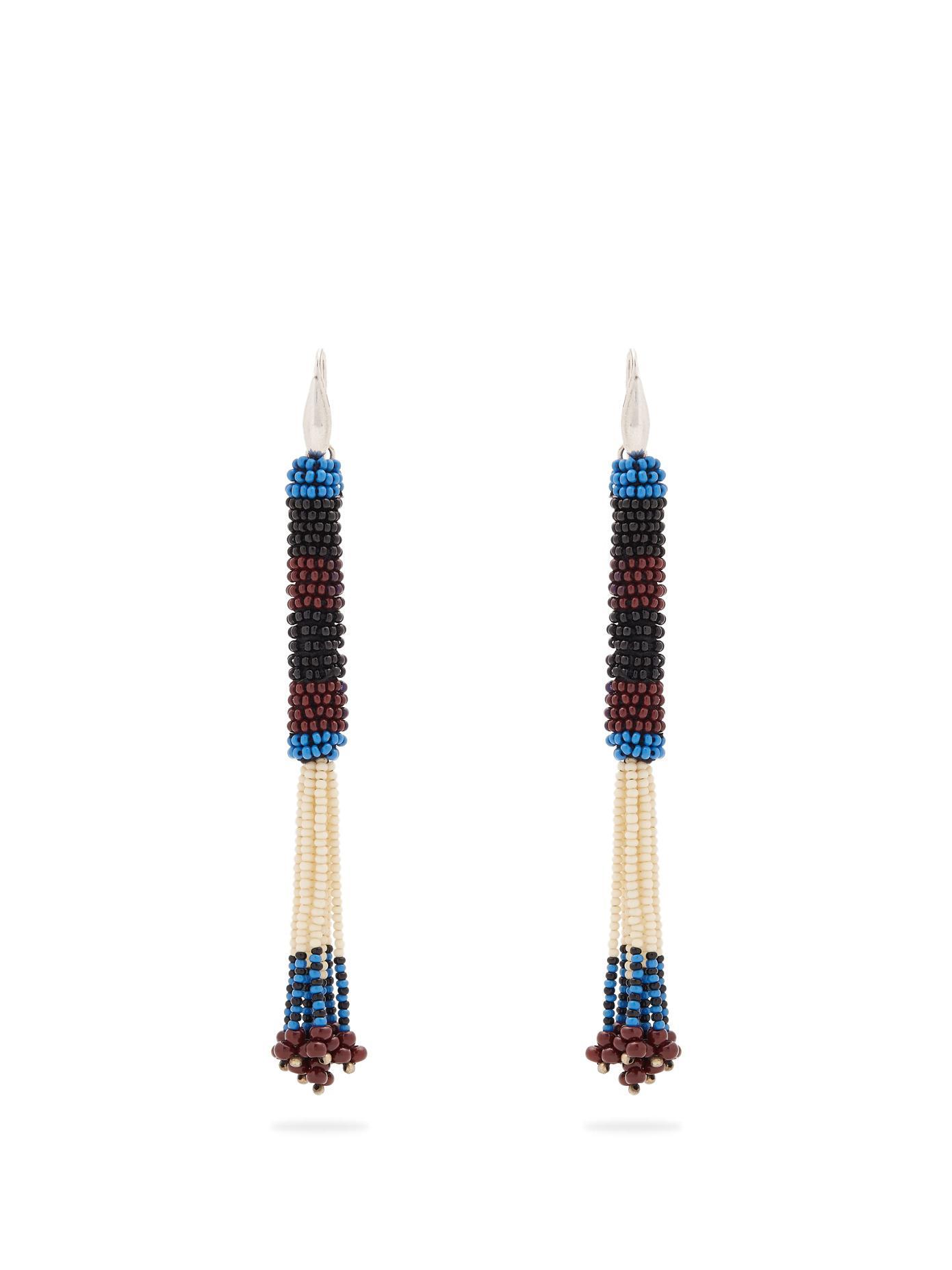 Bead-embellished tassel-drop earrings Isabel Marant YG0xNAfLc
