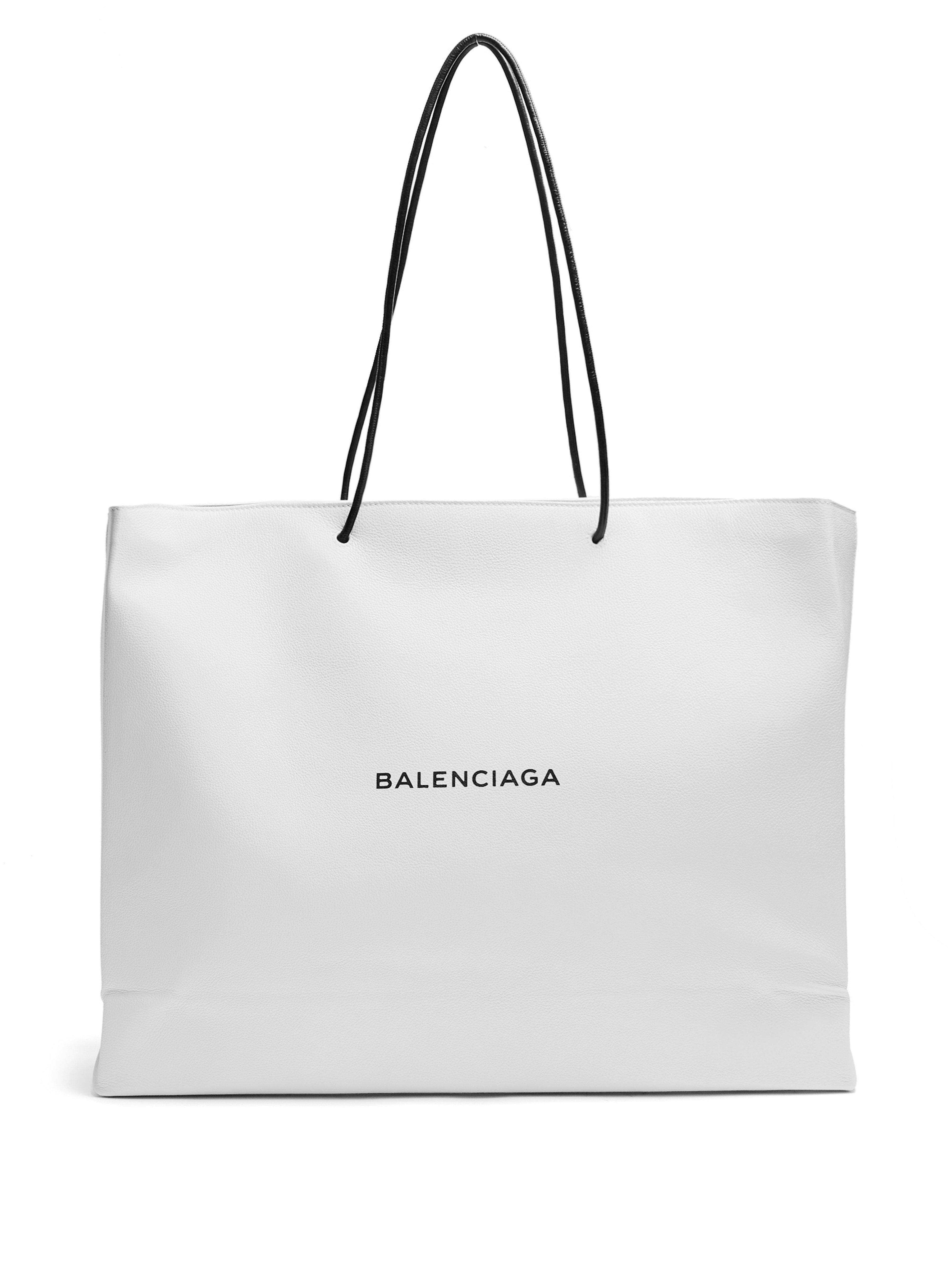 Balenciaga - White Shopping Tote East West L - Lyst. View fullscreen 5a732d2a6638a
