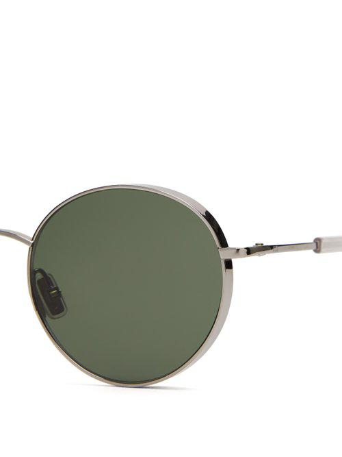c95e2a108fd Dior Homme Dioredgy Round Frame Sunglasses in Metallic for Men - Lyst