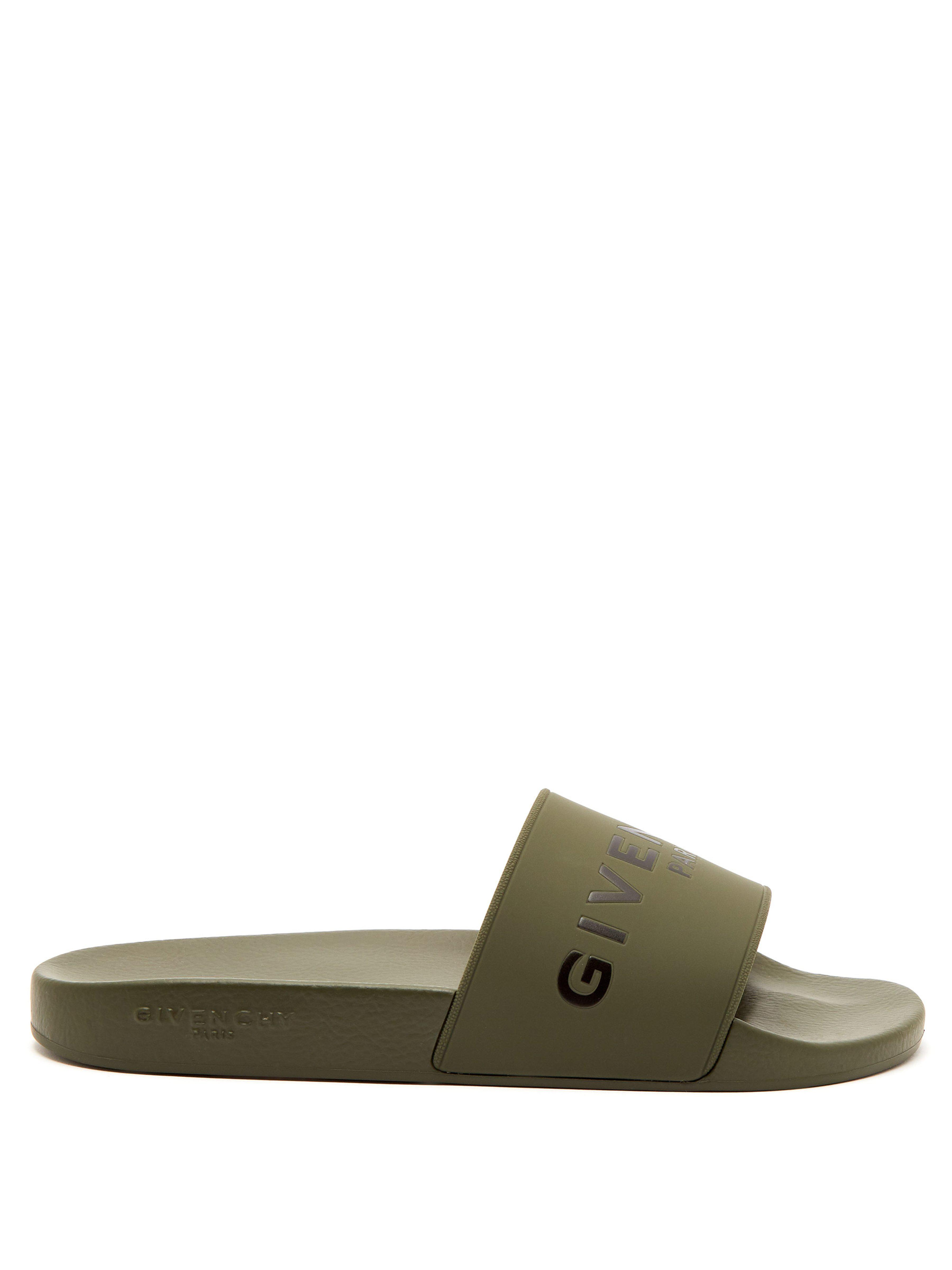 ee711b0401c3e Givenchy Rubber Slides for Men - Lyst
