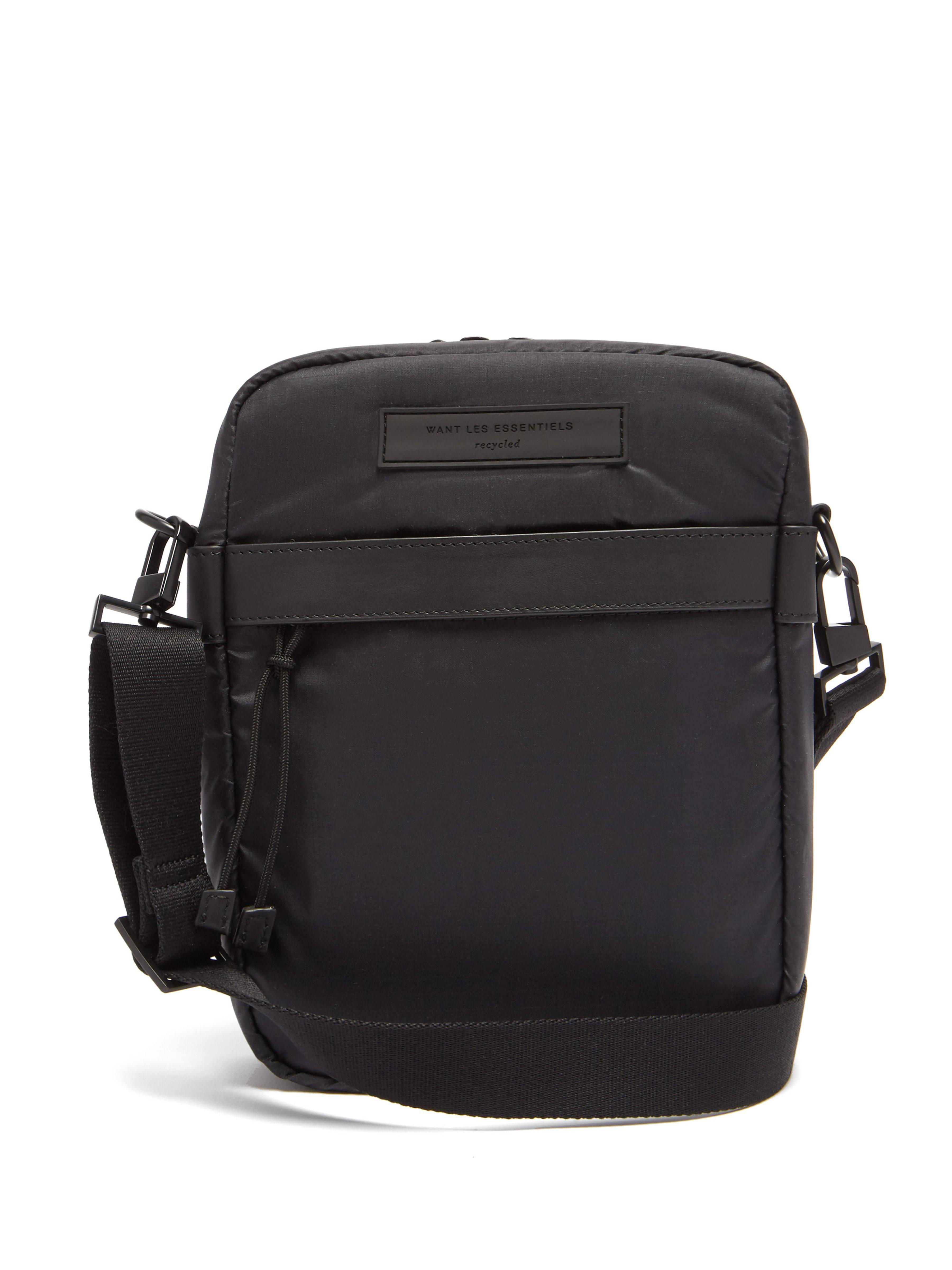 c3eca128be0a Want Les Essentiels De La Vie Bryce Cross Body Bag in Black for Men ...