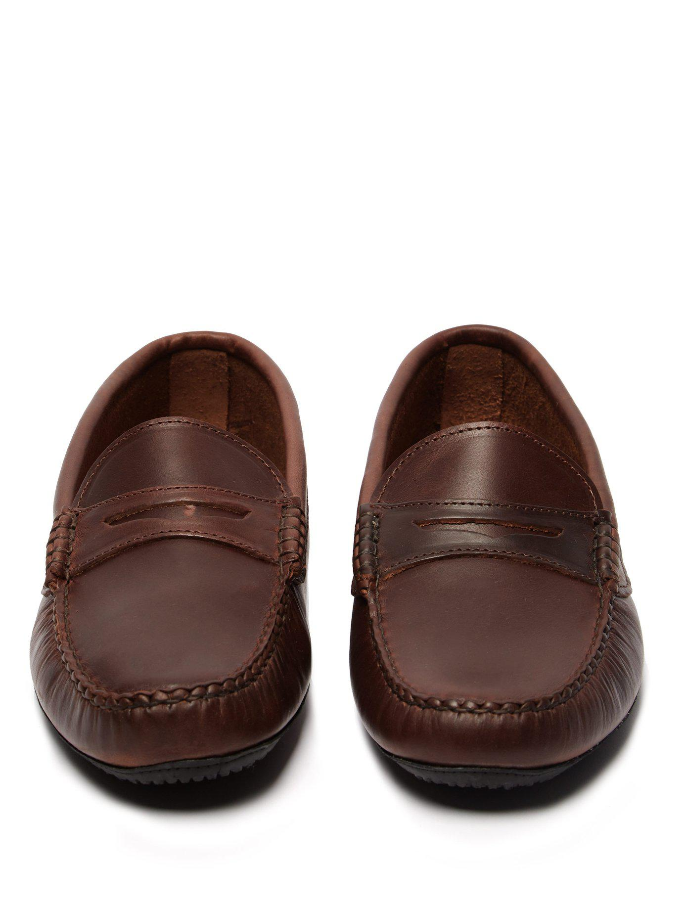 c9ba9501c06 Quoddy - Brown Penny Driver Leather Loafers for Men - Lyst. View fullscreen