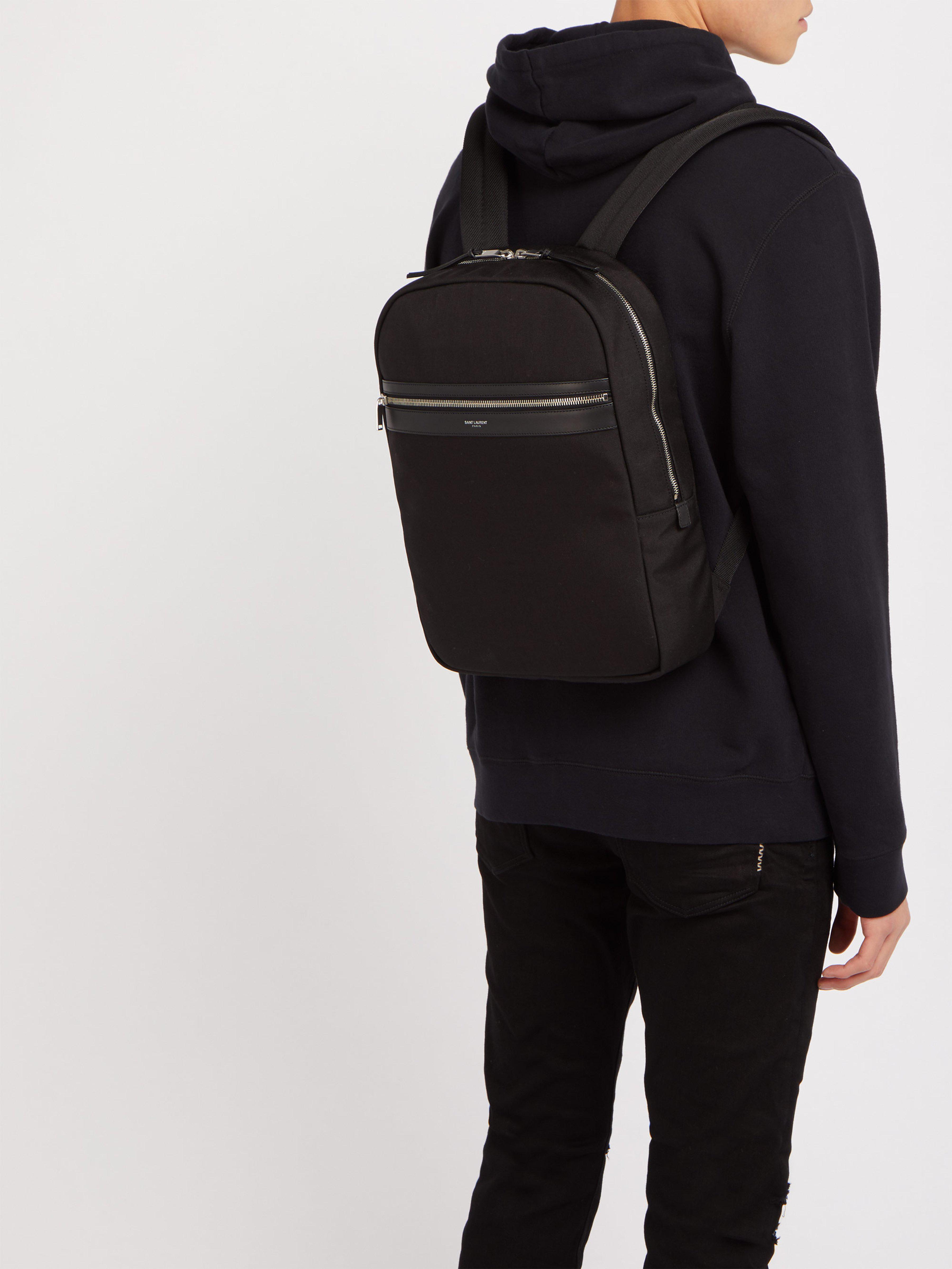 13fd86a17c Saint Laurent City Canvas Backpack in Black for Men - Lyst