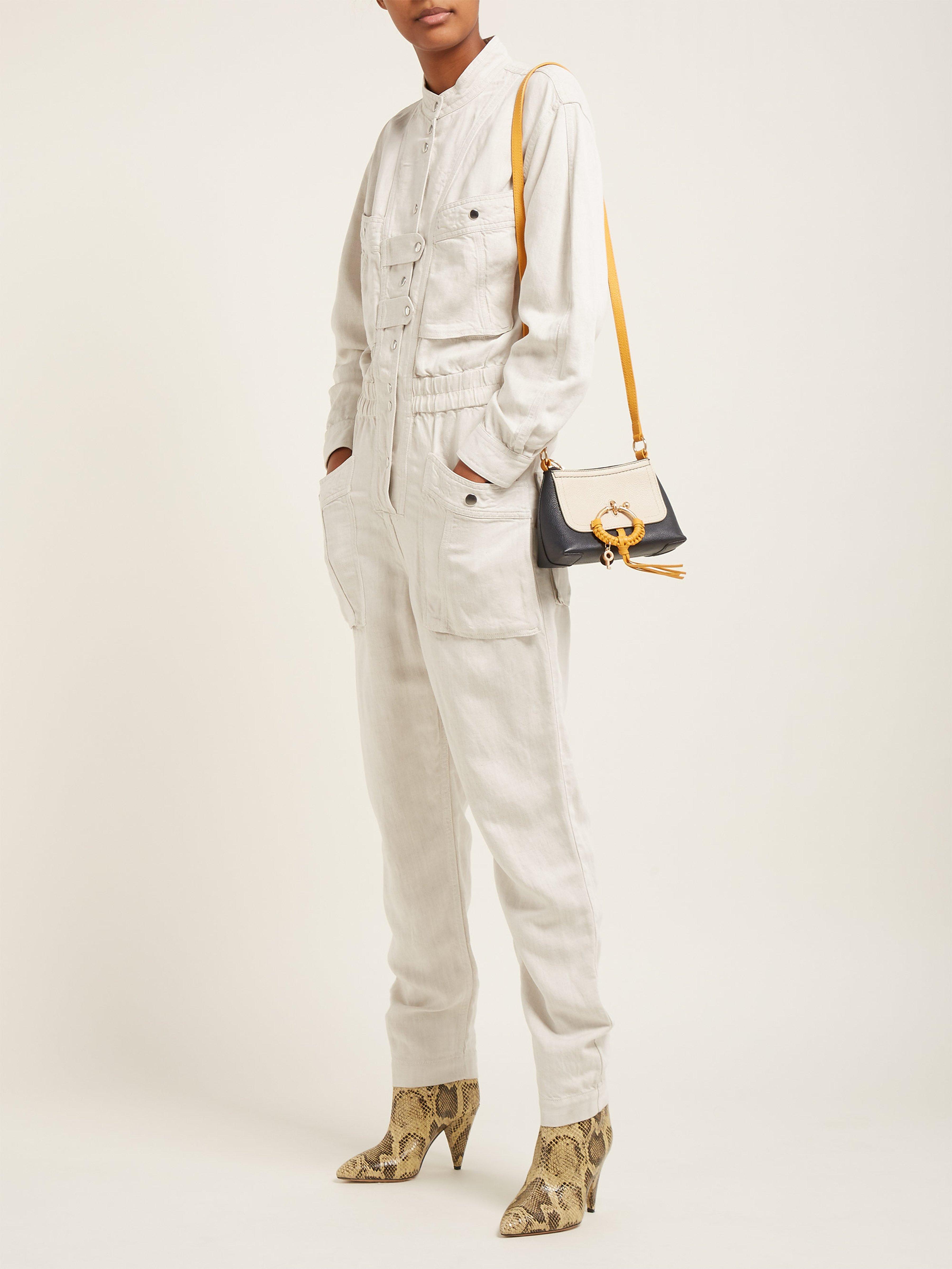 ef658686a0 Étoile Isabel Marant Lashay Linen Blend Jumpsuit in White - Lyst