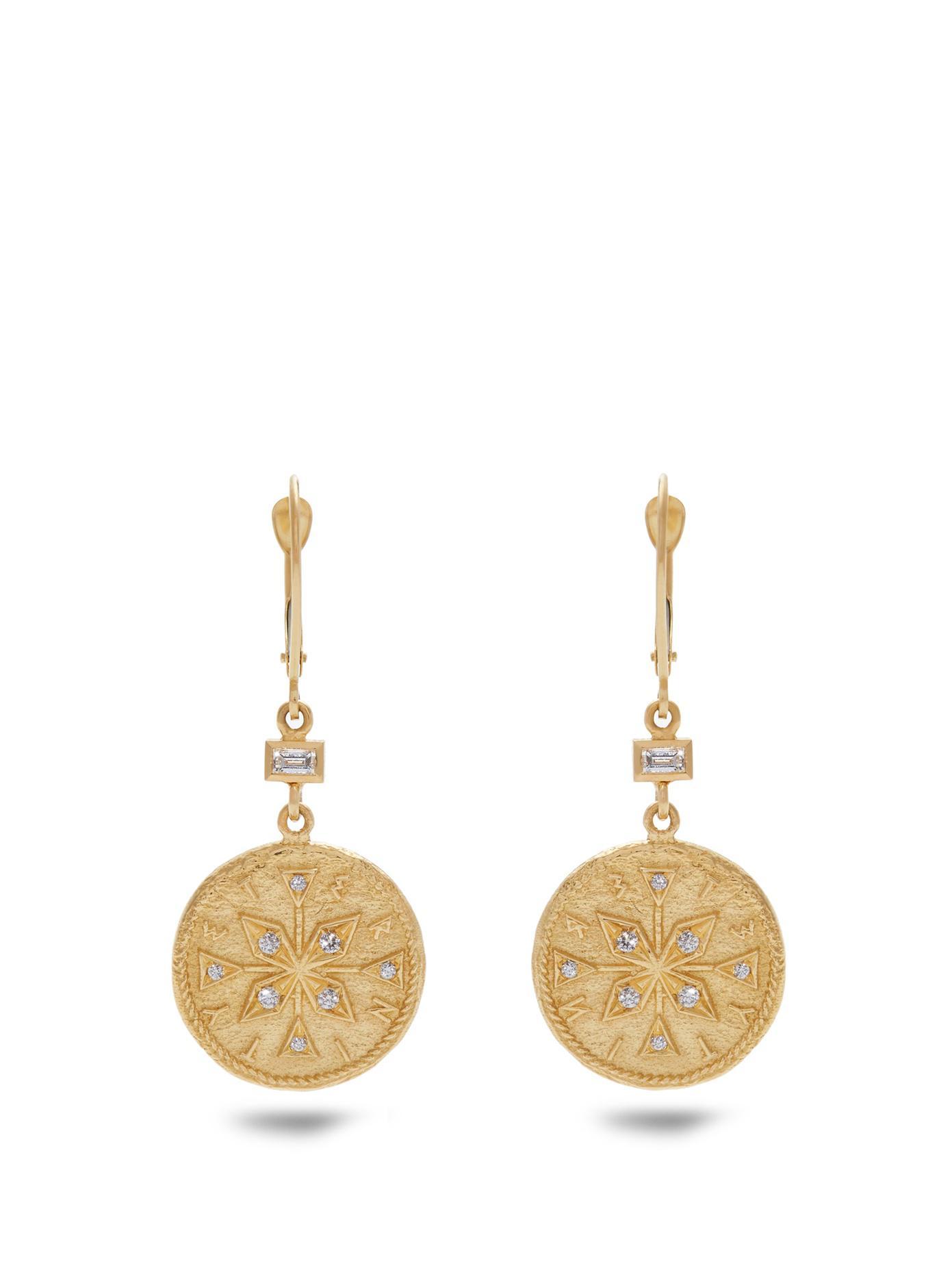 Azlee Animal Kingdom diamond & yellow-gold earrings GC5RsFk